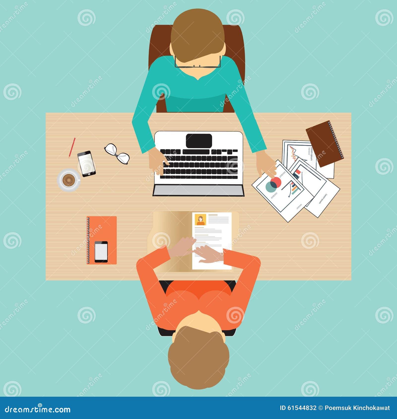 Job Interview Design Stock Vector Image 61544832
