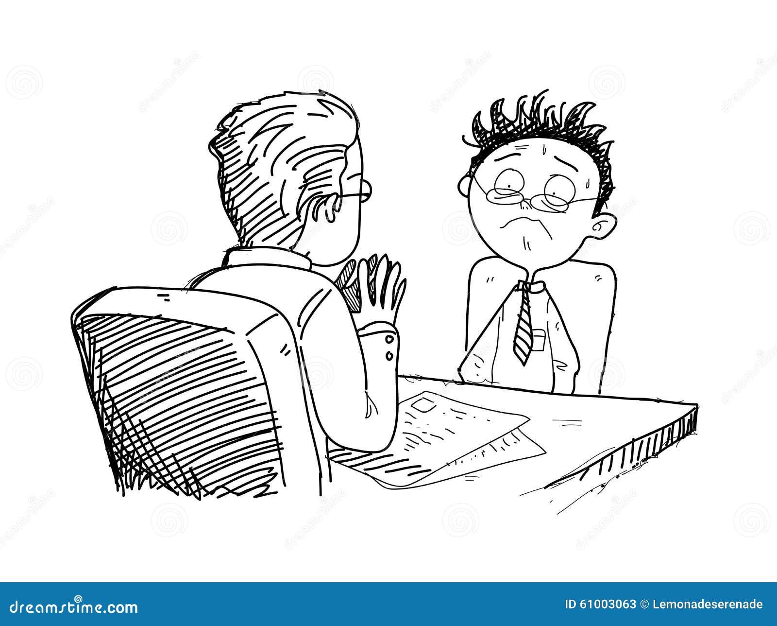 Vector Drawing Lines Job : Job interview stock vector image
