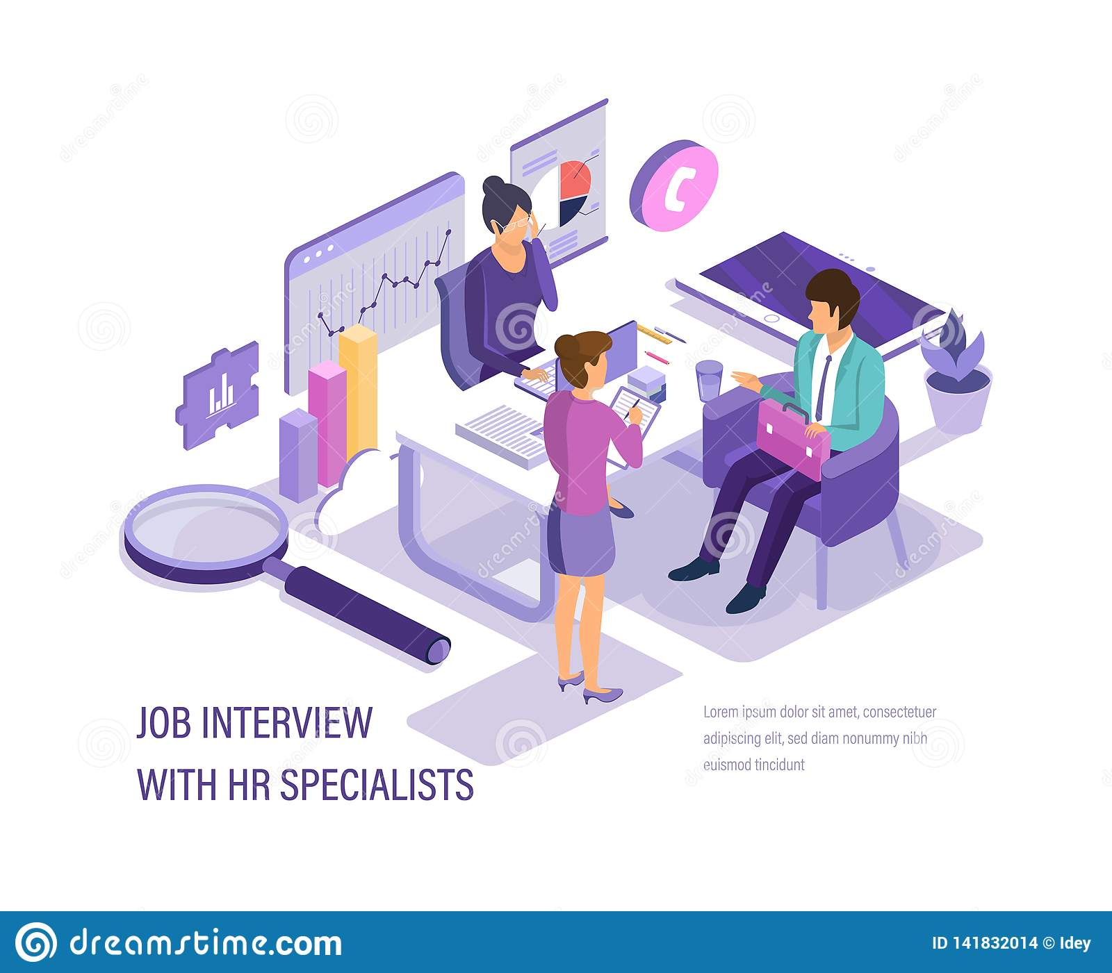 Job Interview With Hr Specialists Study Of Questionnaire And