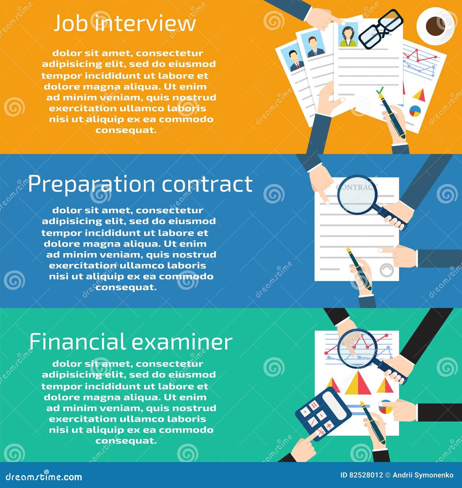 job interview preparation business stock vector image  job interview preparation business