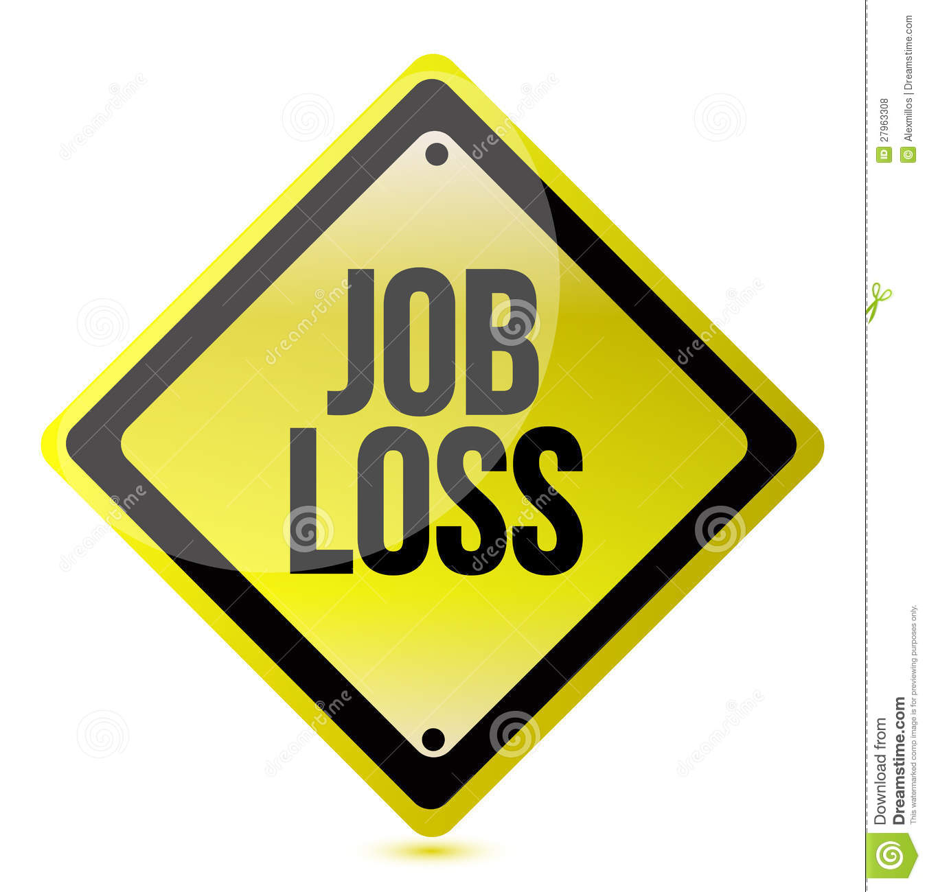 Job loss sign royalty free stock photos image 27963308 - Traffic planning and design layoffs ...