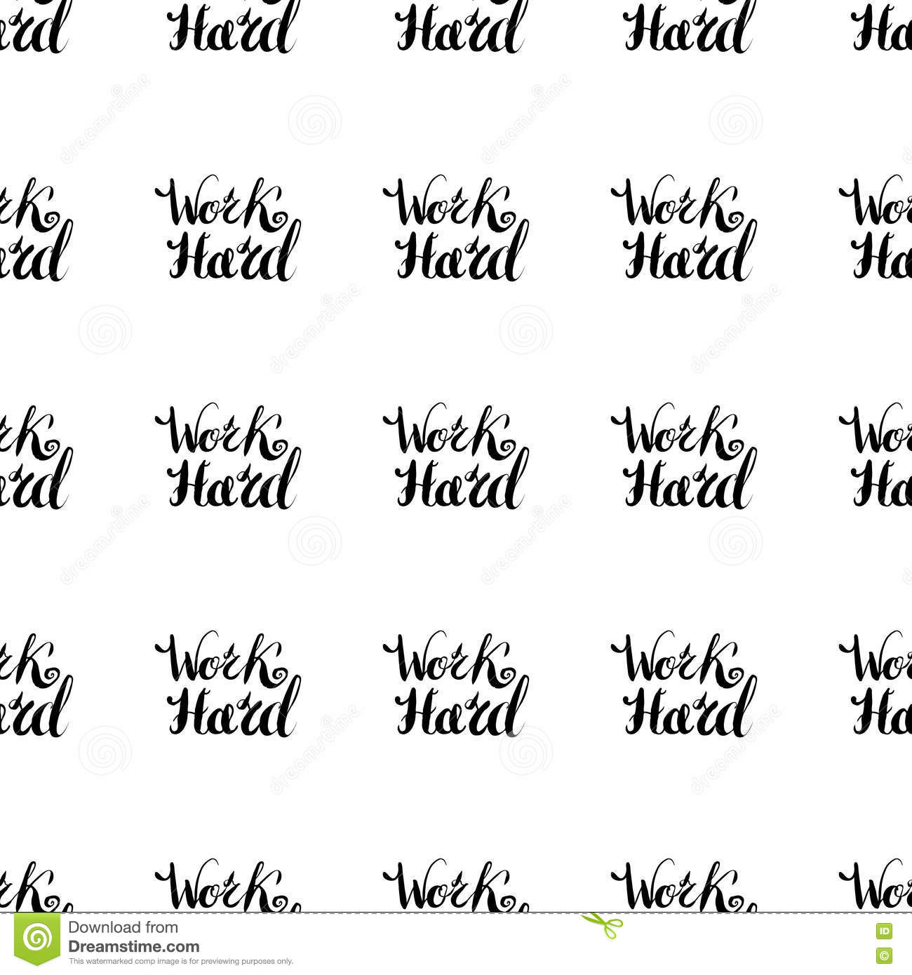 job motivation lettering seamless pattern work hard stock vector job motivation lettering seamless pattern work hard