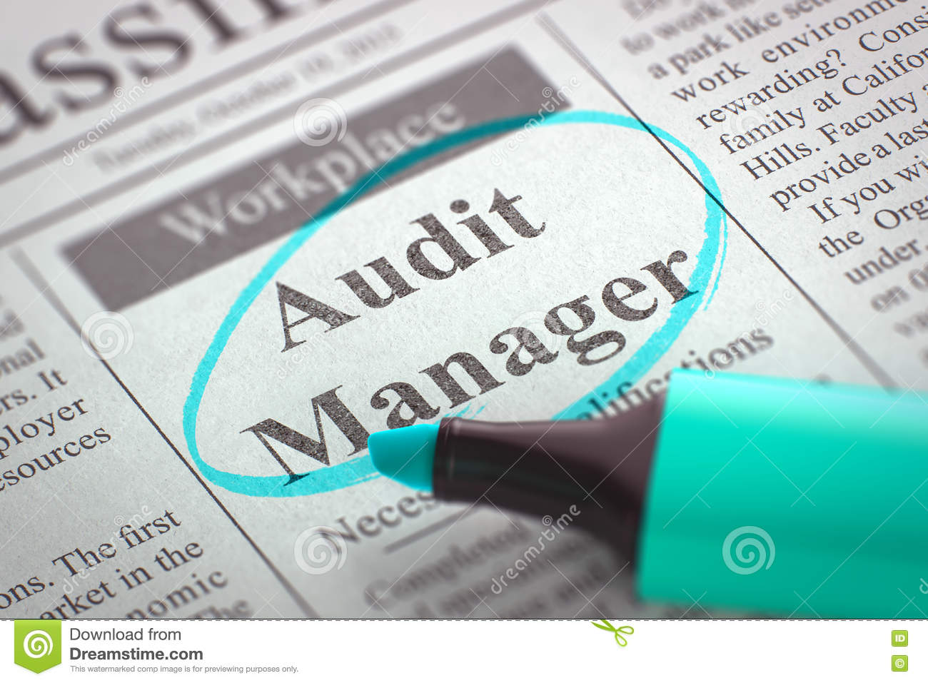 Job Opening Audit Manager 3d