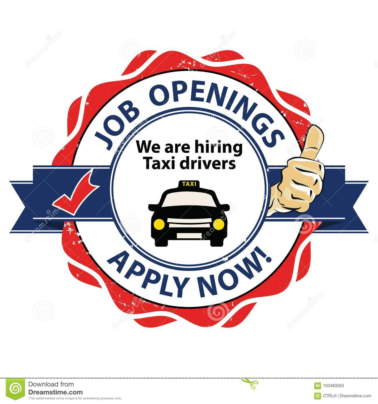 photograph relating to Now Hiring Sign Printable called Activity Openings - We Are Using the services of Cab Motorists - Printable Stamp