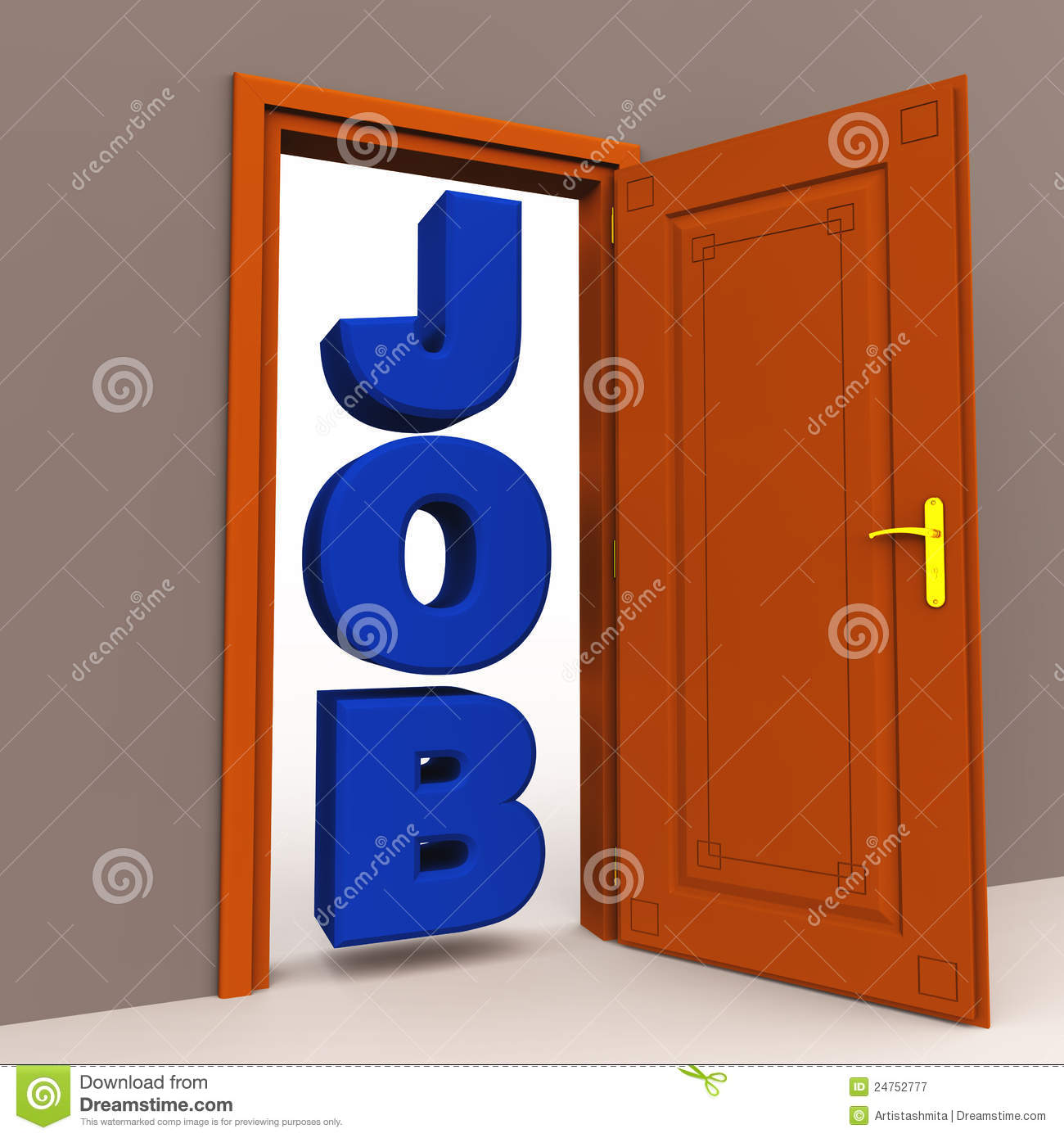 job opportunity at the door royalty free stock photography
