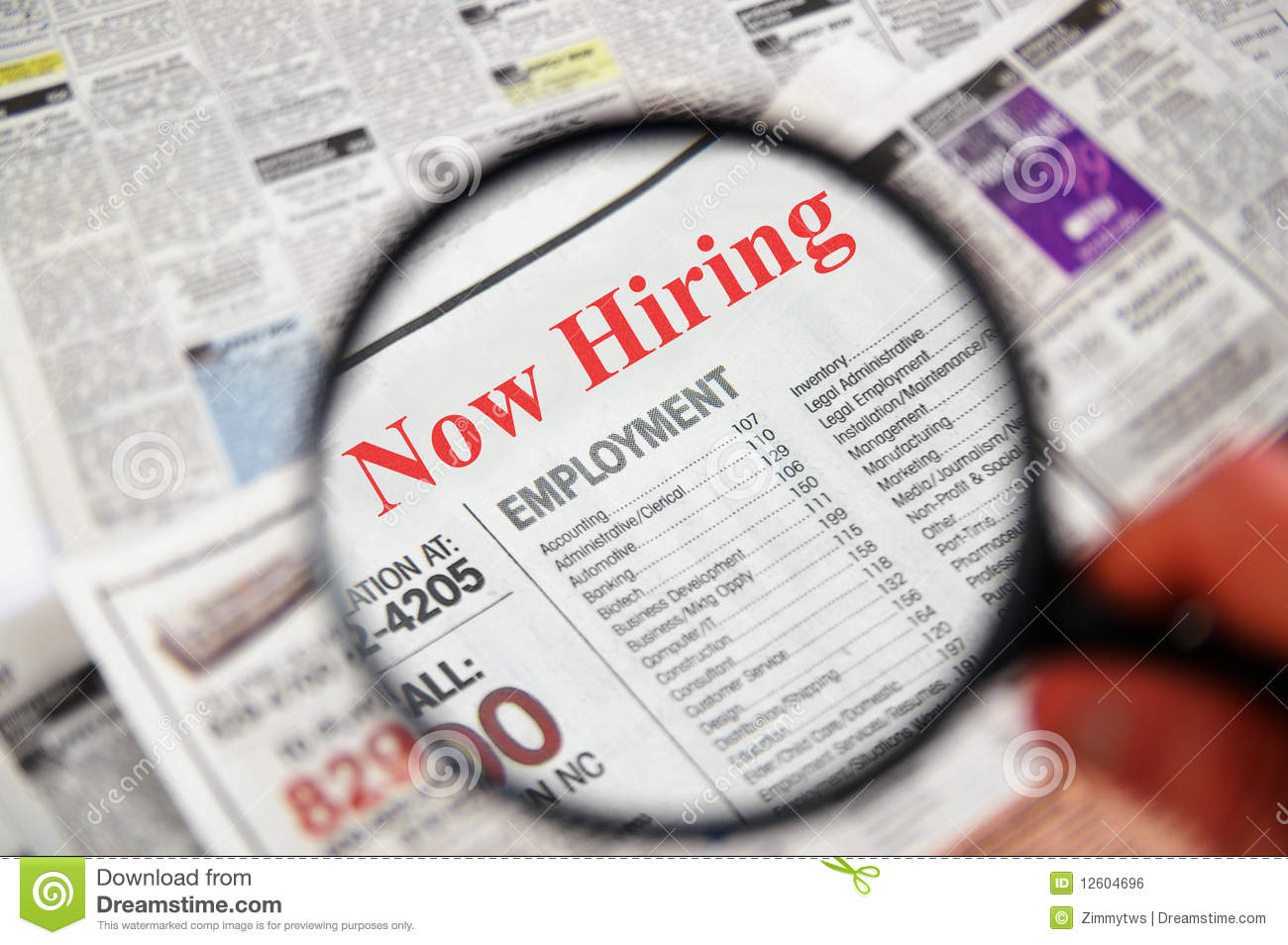 Job Openings: Job Search Royalty Free Stock Image