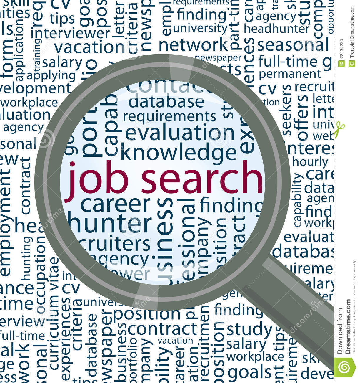 Job Search Royalty Free Stock Image - Image: 22234226