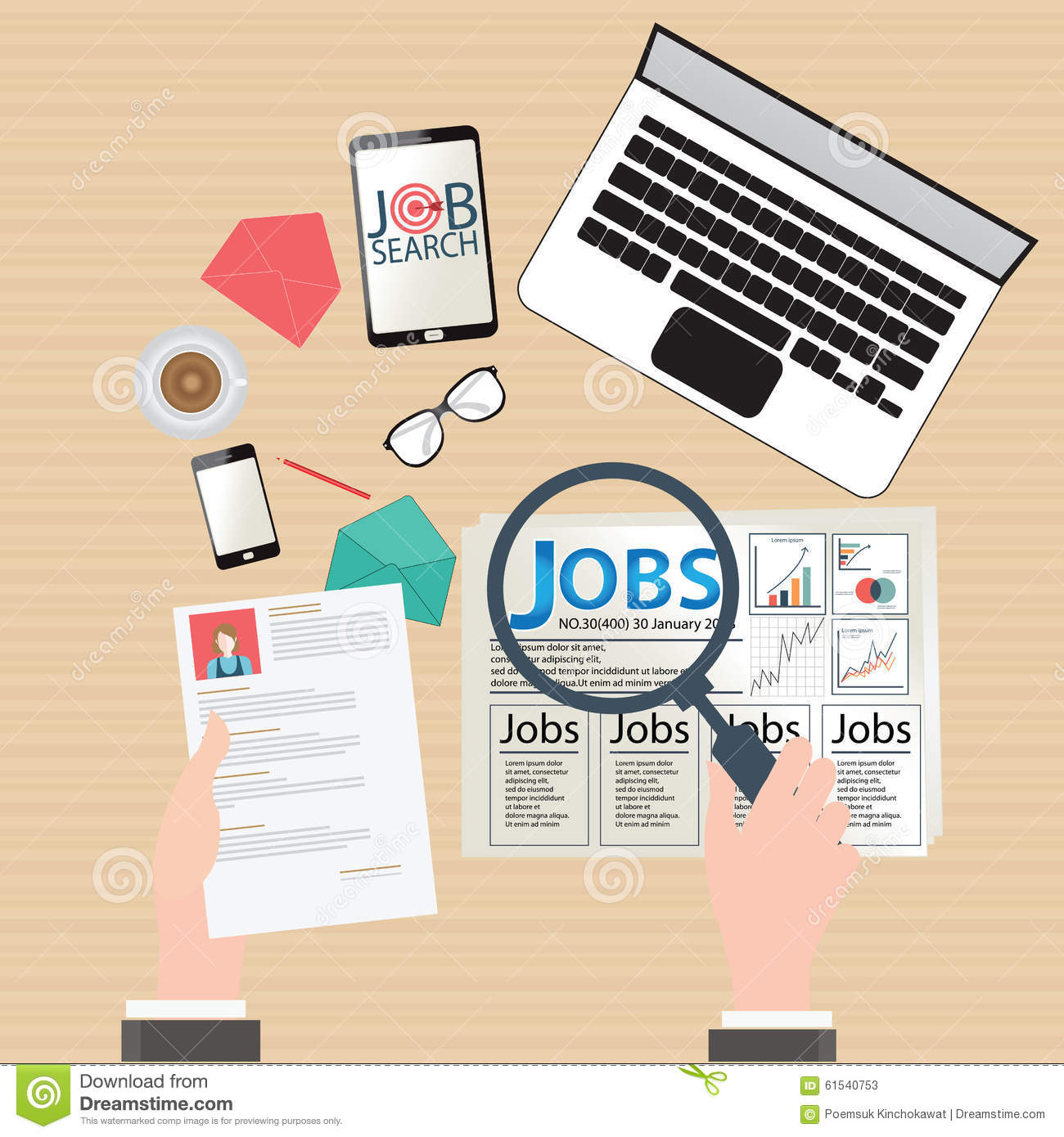 job search design stock vector image  job search design