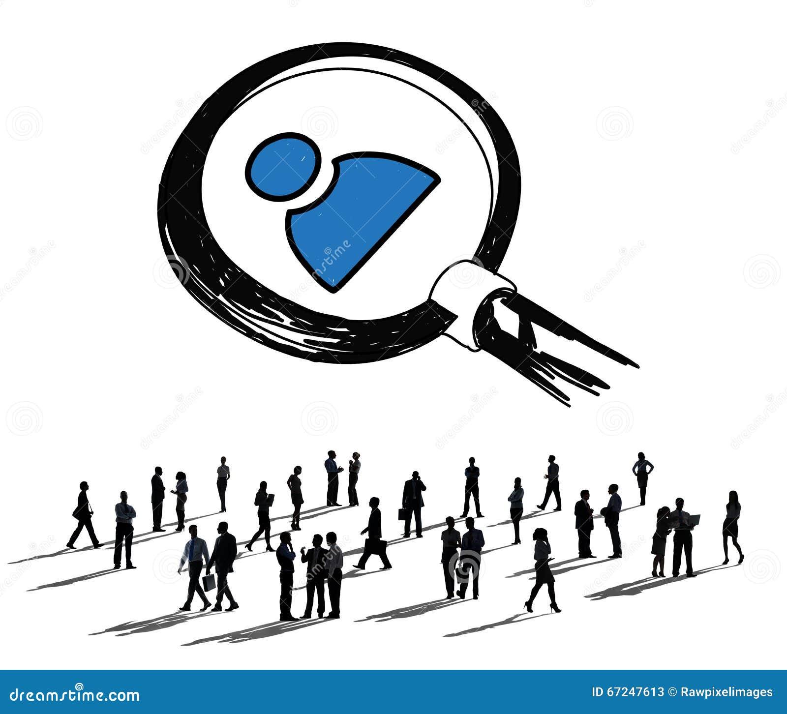 Job Search Human Resources Employees som söker begrepp