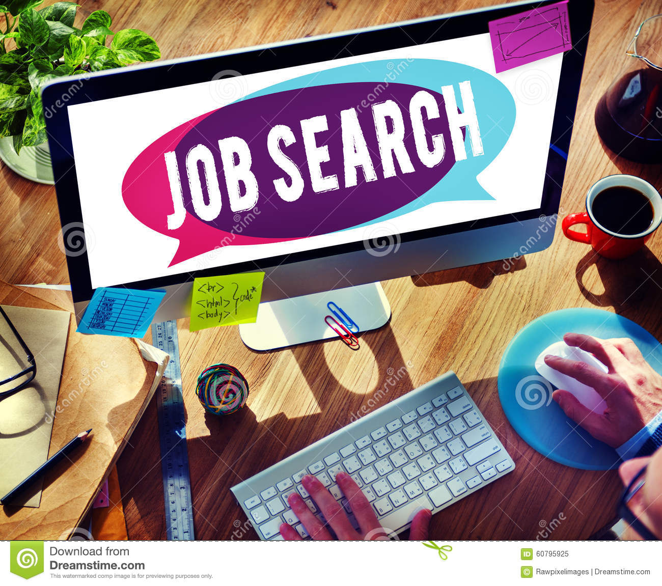 Job Search Searching Career Application begrepp
