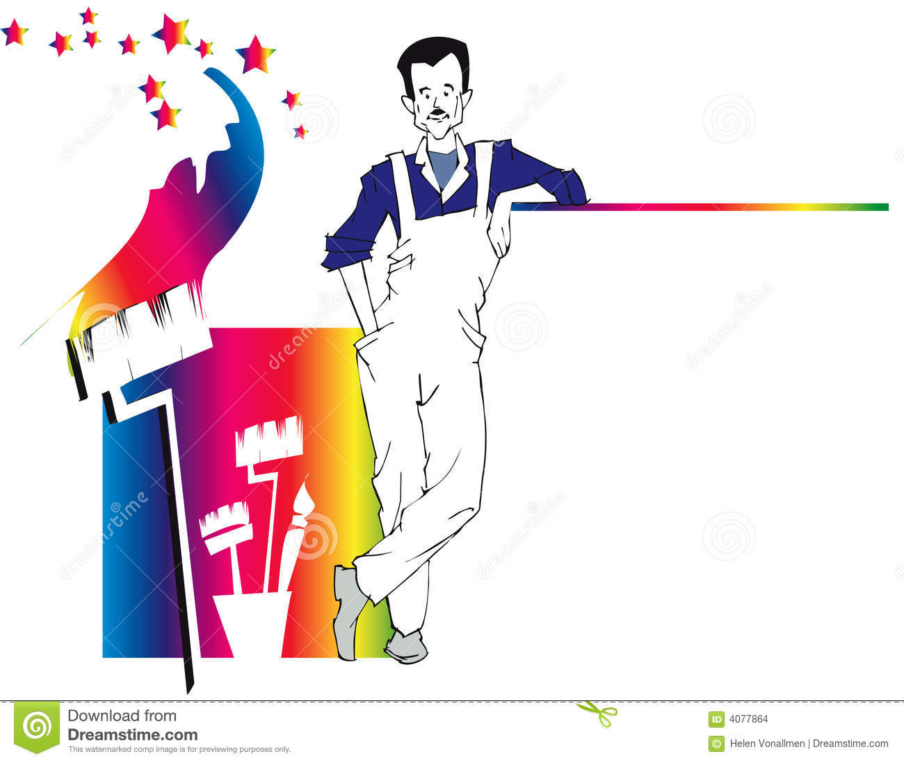 Displaying (18) Gallery Images For House Painter Clipart...