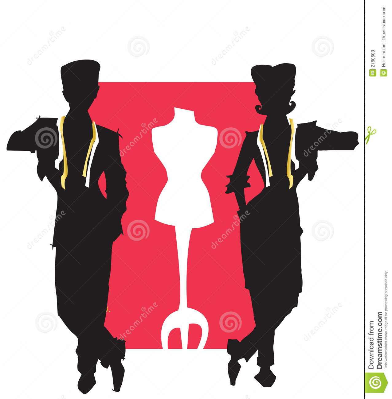 Job Series Tailor Dressmaker Stock Vector Image 2780608