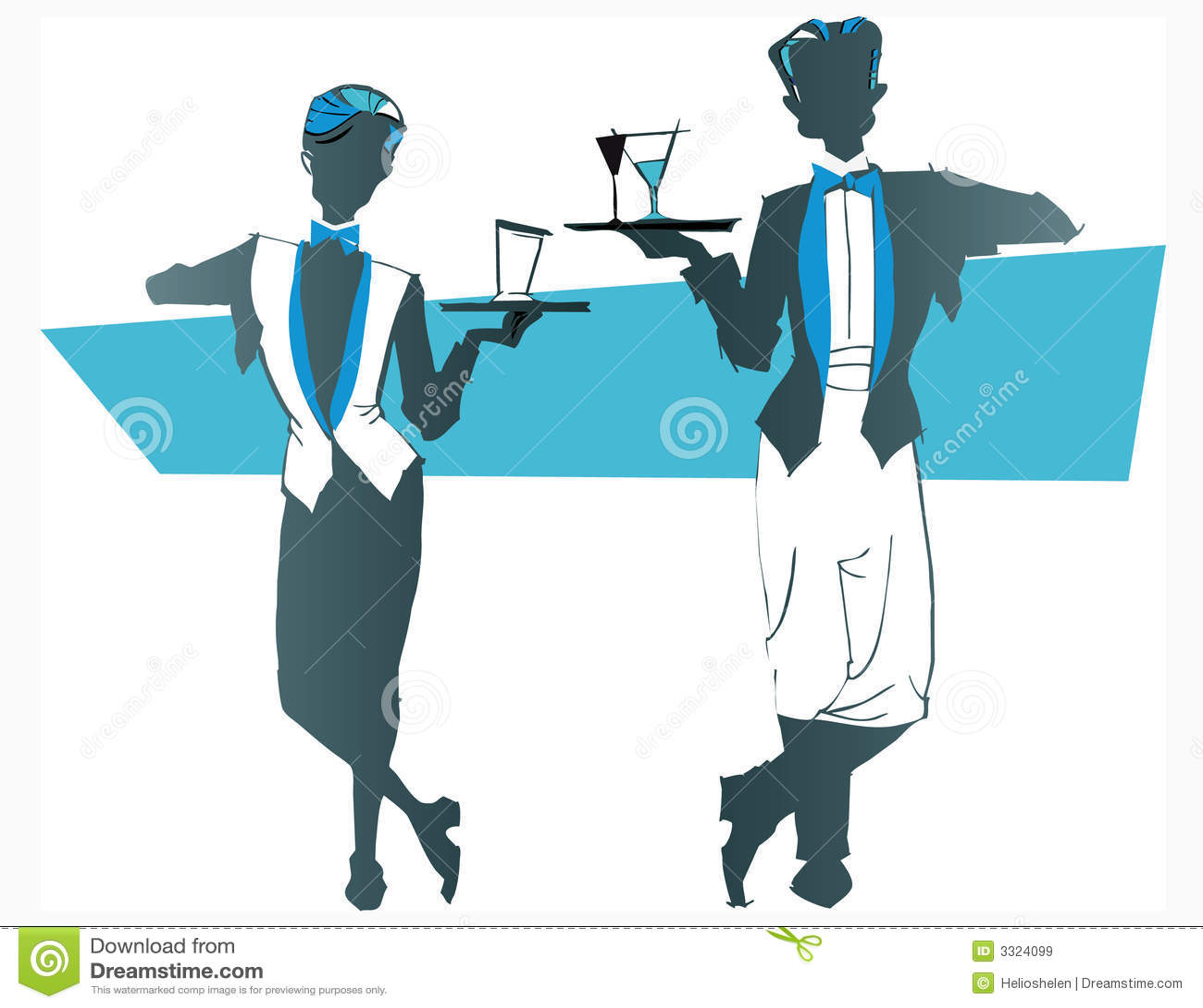 Job series -waitress waiter  Waiters And Waitresses Clipart