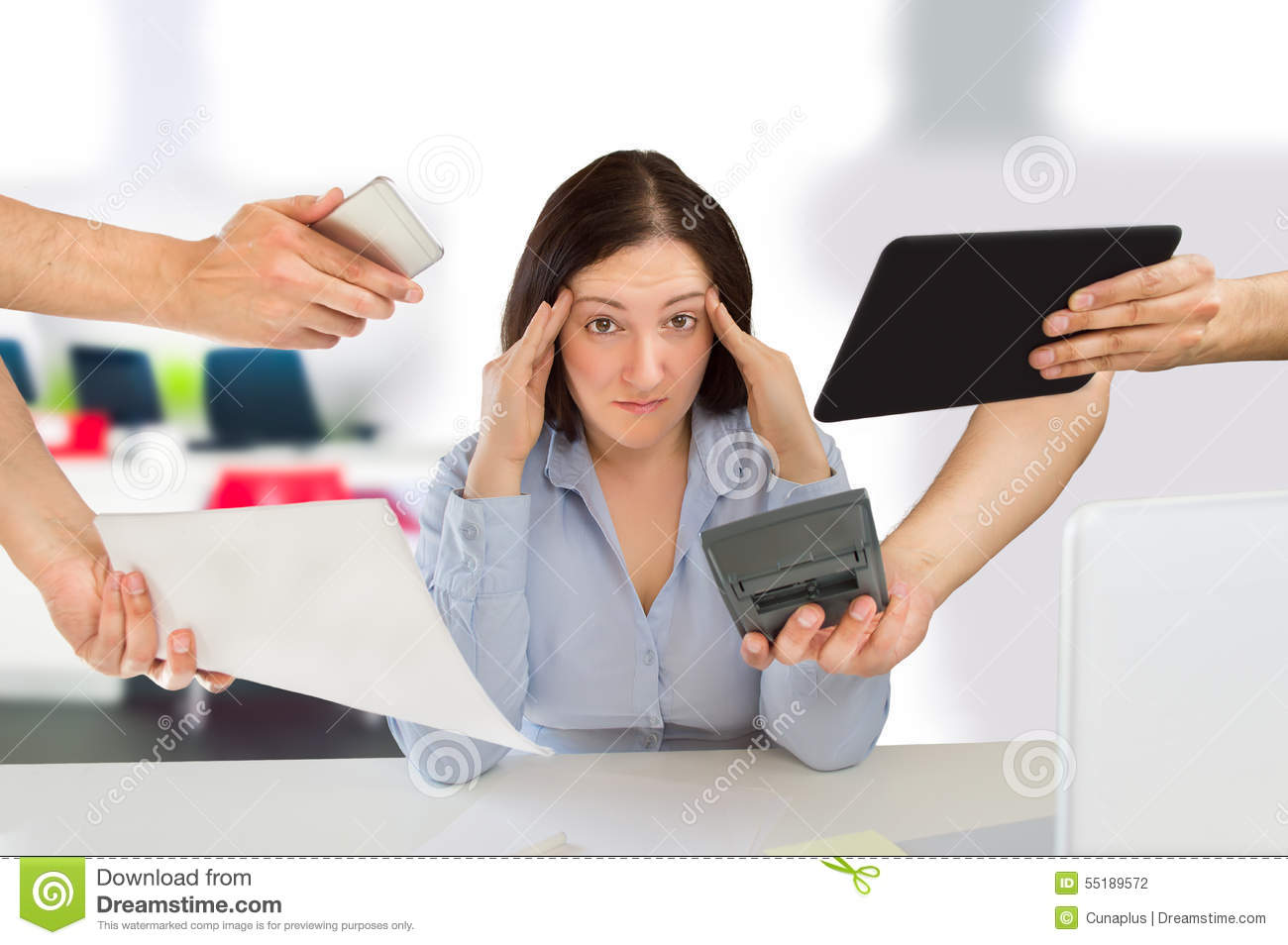 Job Stress stock photo. Image of holding, adult, desk ...