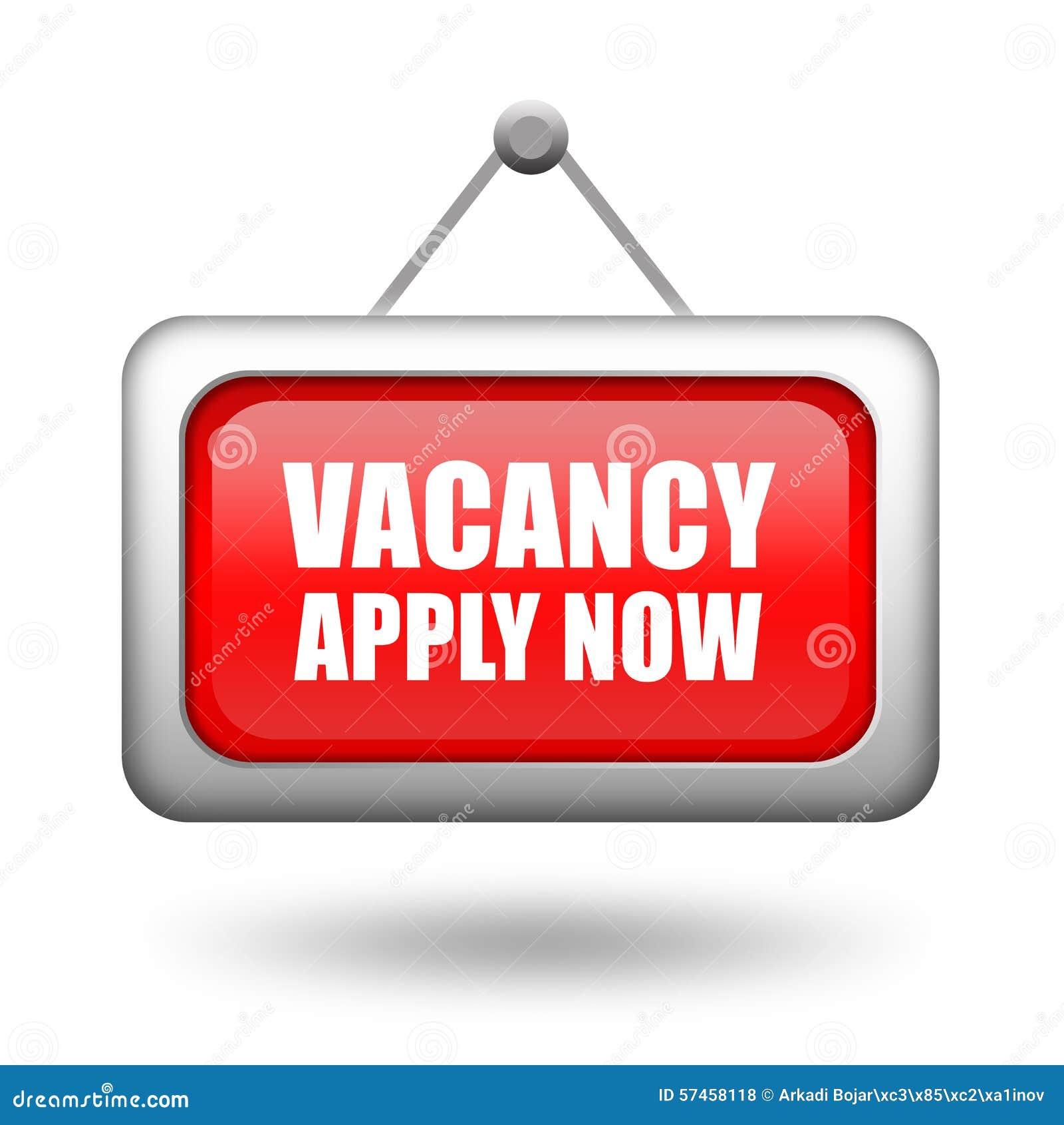 job vacancy sign royalty