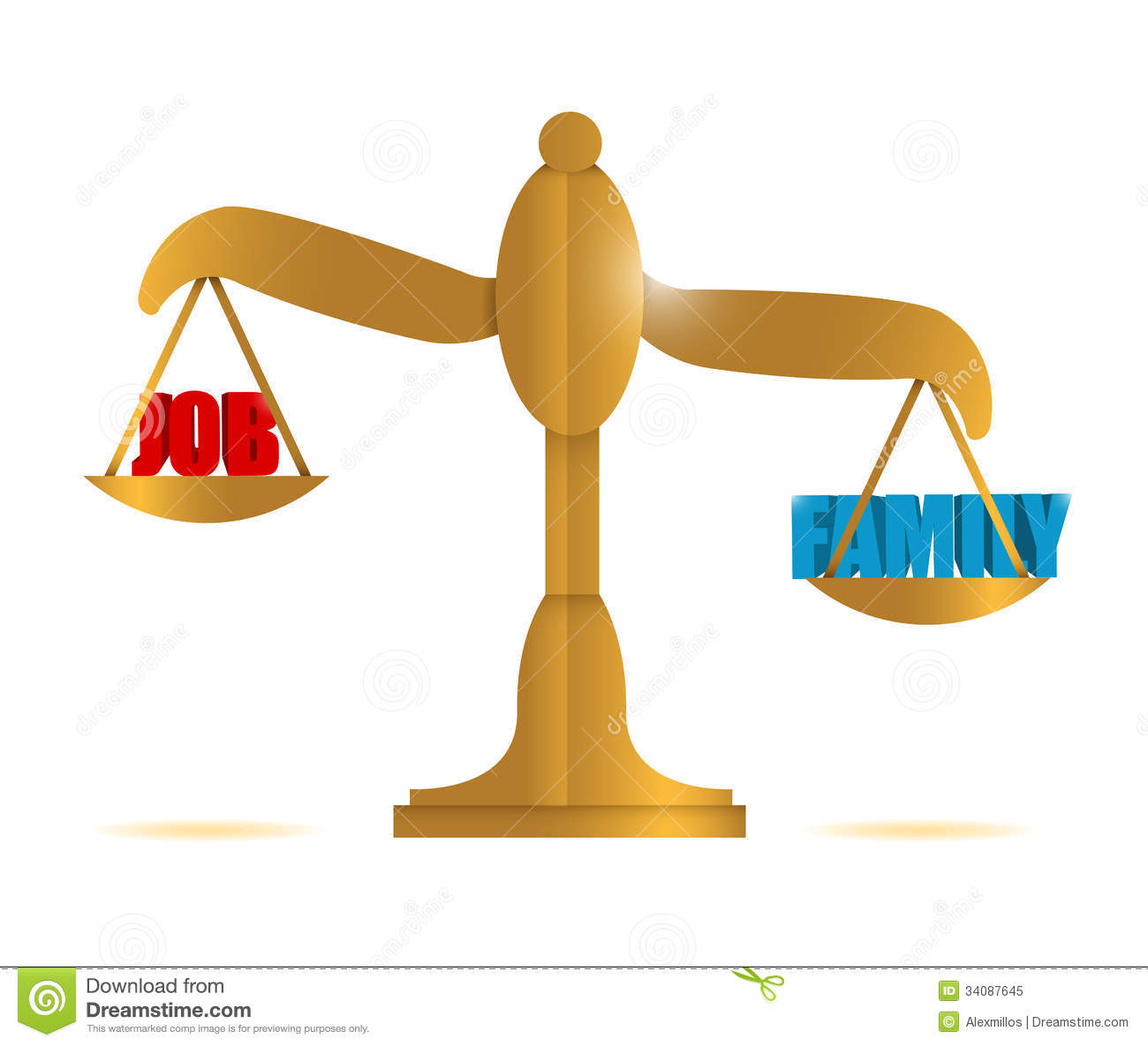 family over career stock photos image  job versus family balance illustration royalty stock photo