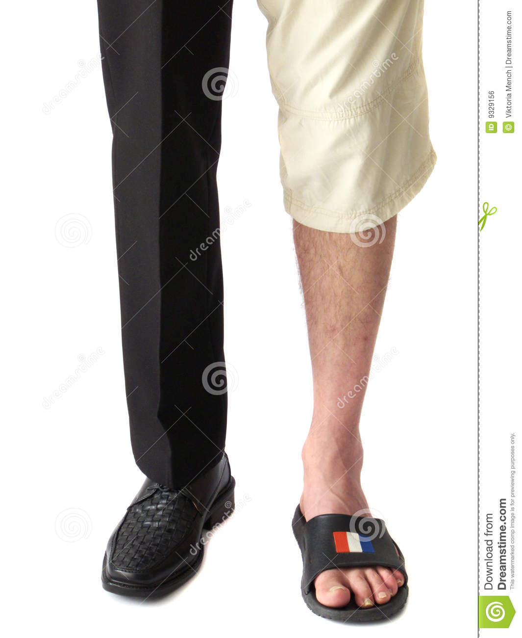 Job vs vacation stock photo. Image of flip, clothes, flop ...