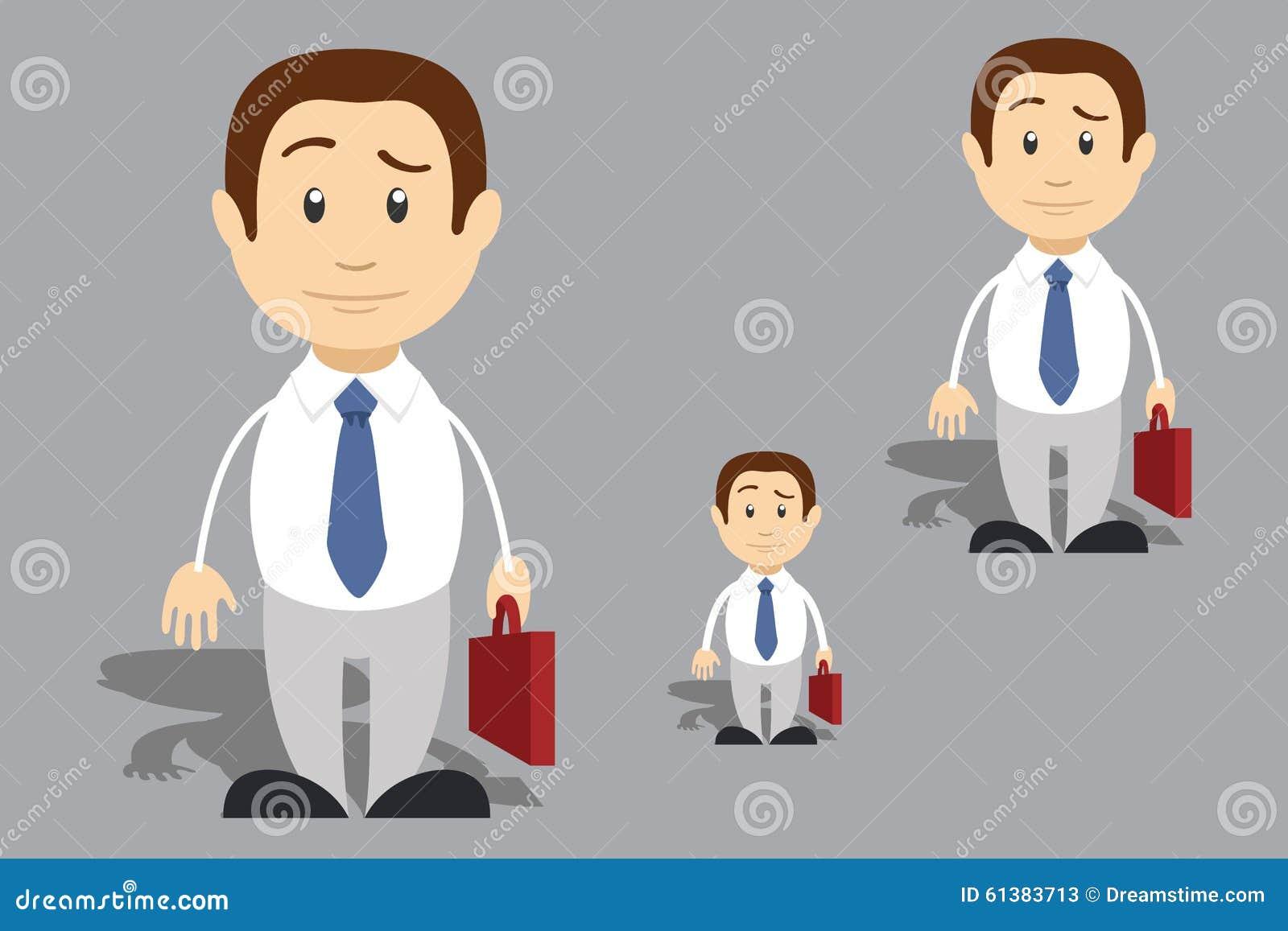 Cartoon Characters Jobs : Job stock illustration image