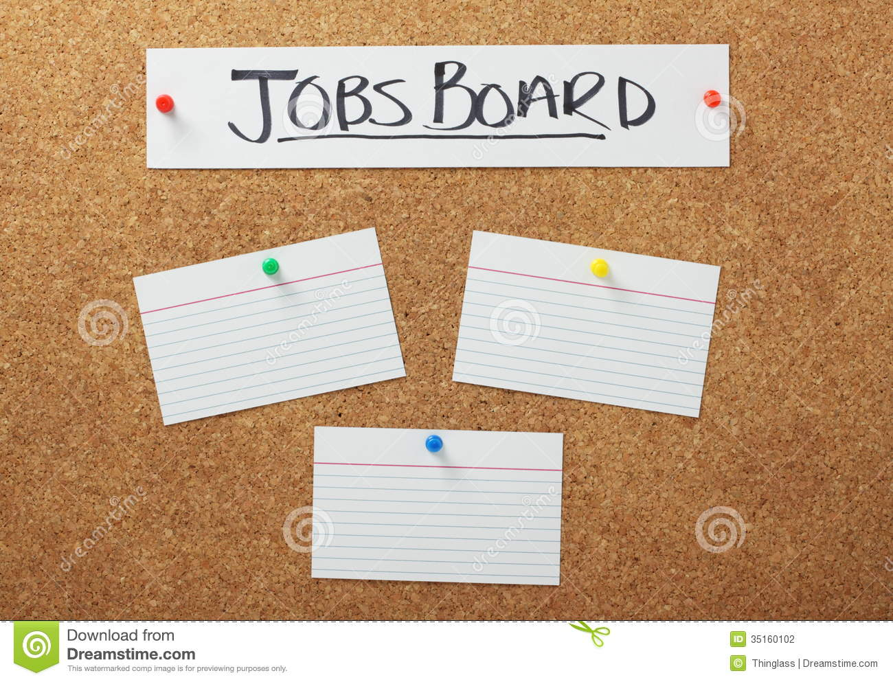 Jobs Board Stock Photography - Image: 35160102
