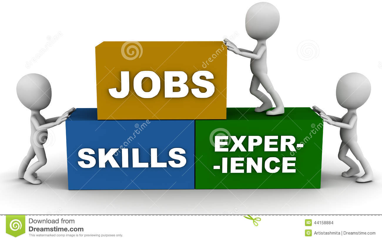 jobs skills and experience stock illustration