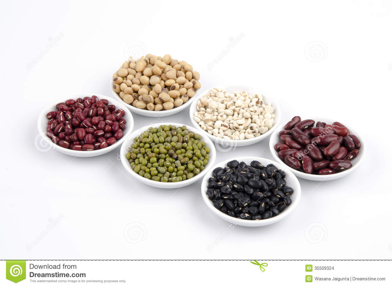 Jobs Tears, Soy Beans, Red Beans, Black Beans, And Green Beans ...
