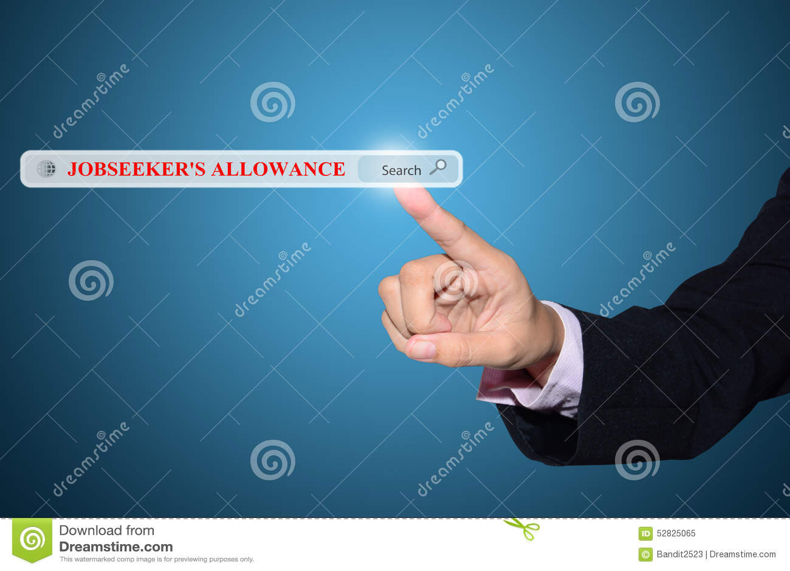 jobseeker s allowance search stock photo image 52825065 jobseeker s allowance search
