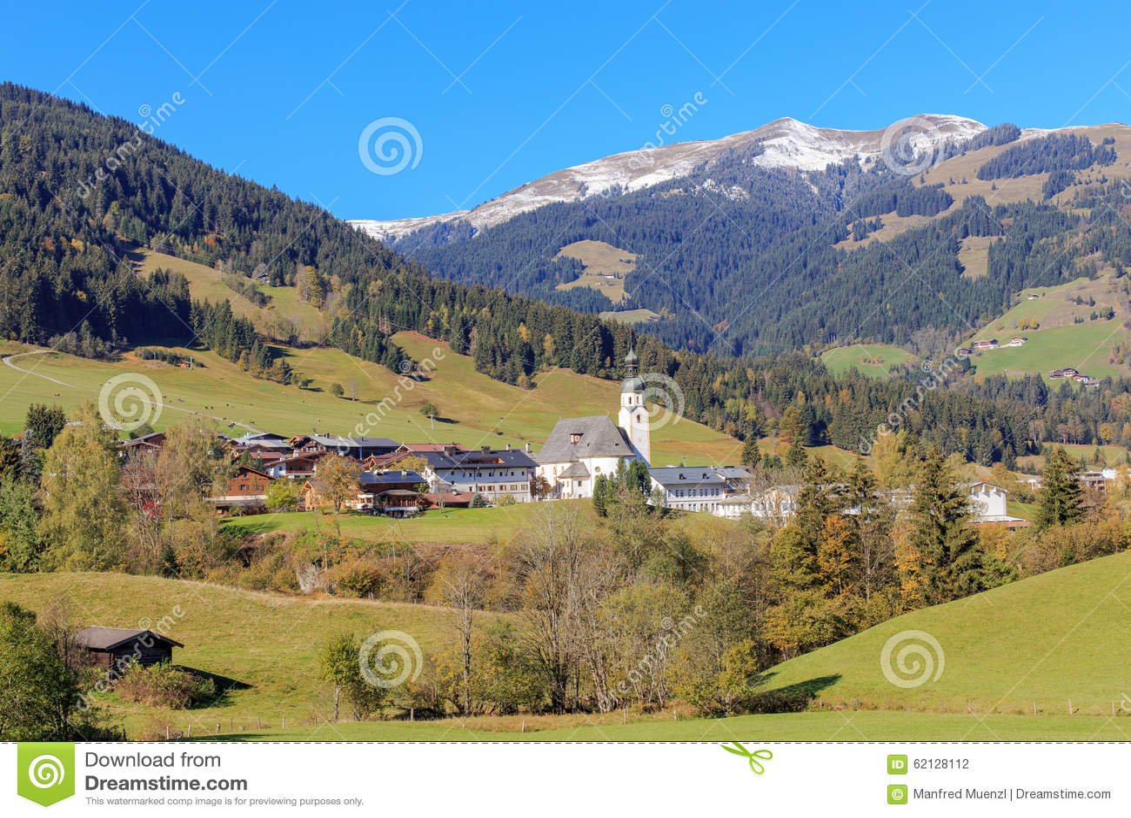 Jochberg in Tirol stock photo. Image of alps, sterreich ...