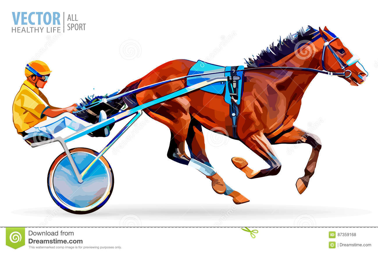 Download Jockey And Horse Champion Racing Hippodrome Steed Coming First To