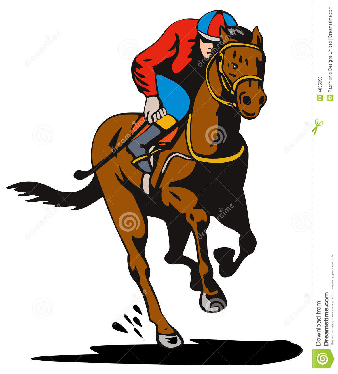 Jockey And Horse Racing Royalty Free Stock Image - Image: 4835996