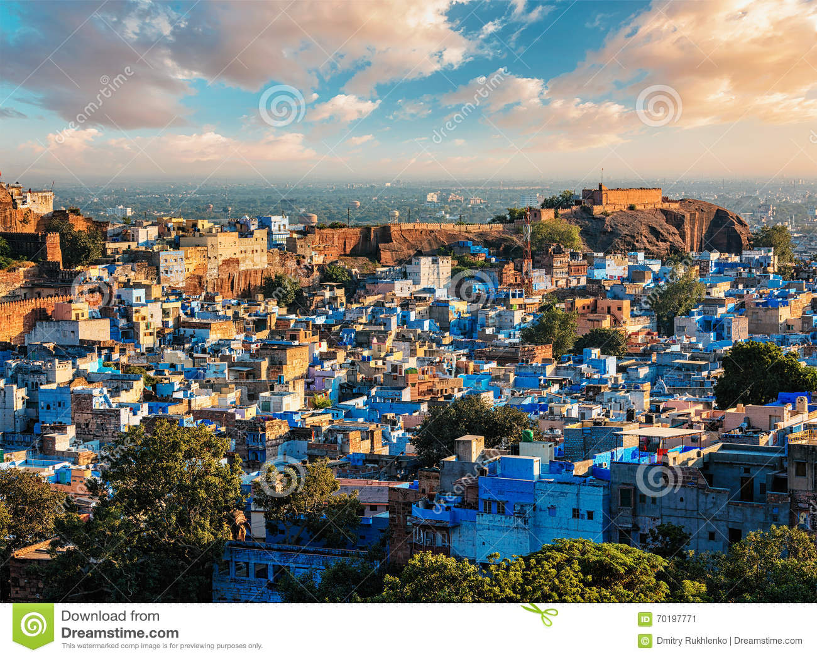 Jodhpur blåttstad, Indien