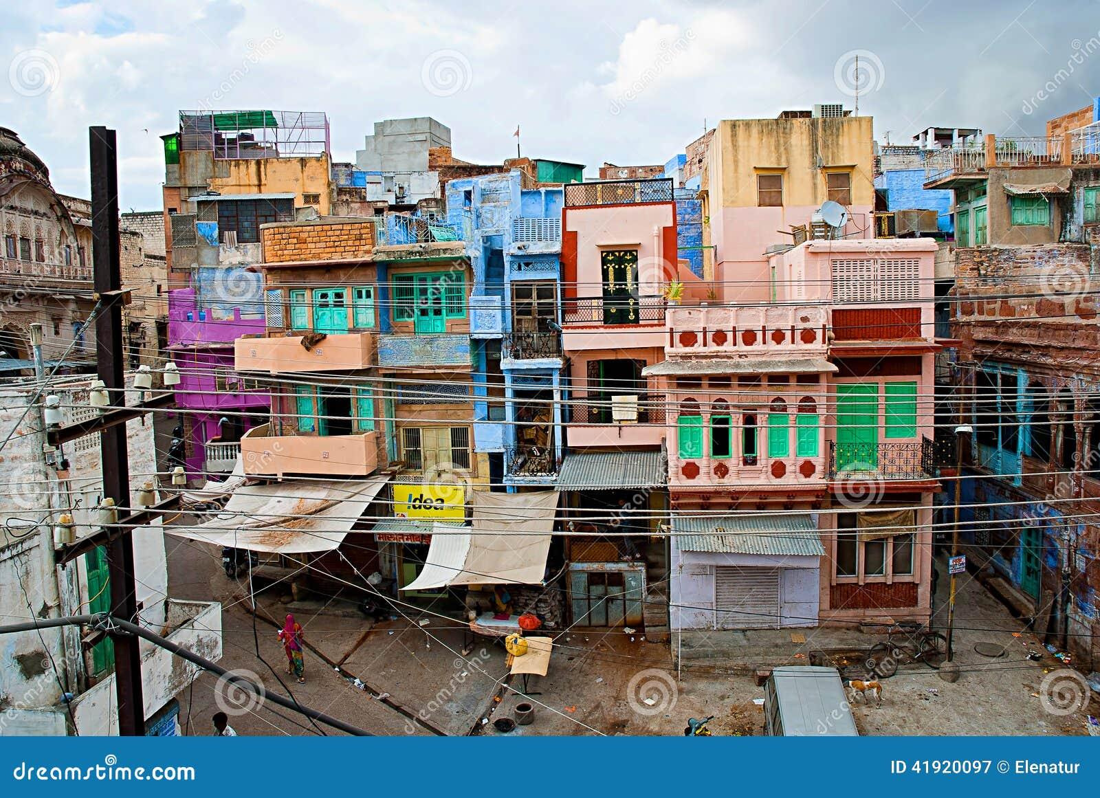 Jodhpur india 21 settembre case variopinte for Case tradizionali