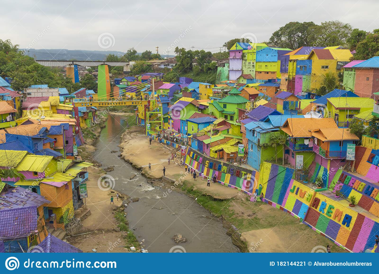 Jodipan A Small Neighborhood In Malang City Indonesia Editorial Photo Image Of Colorize District 182144221