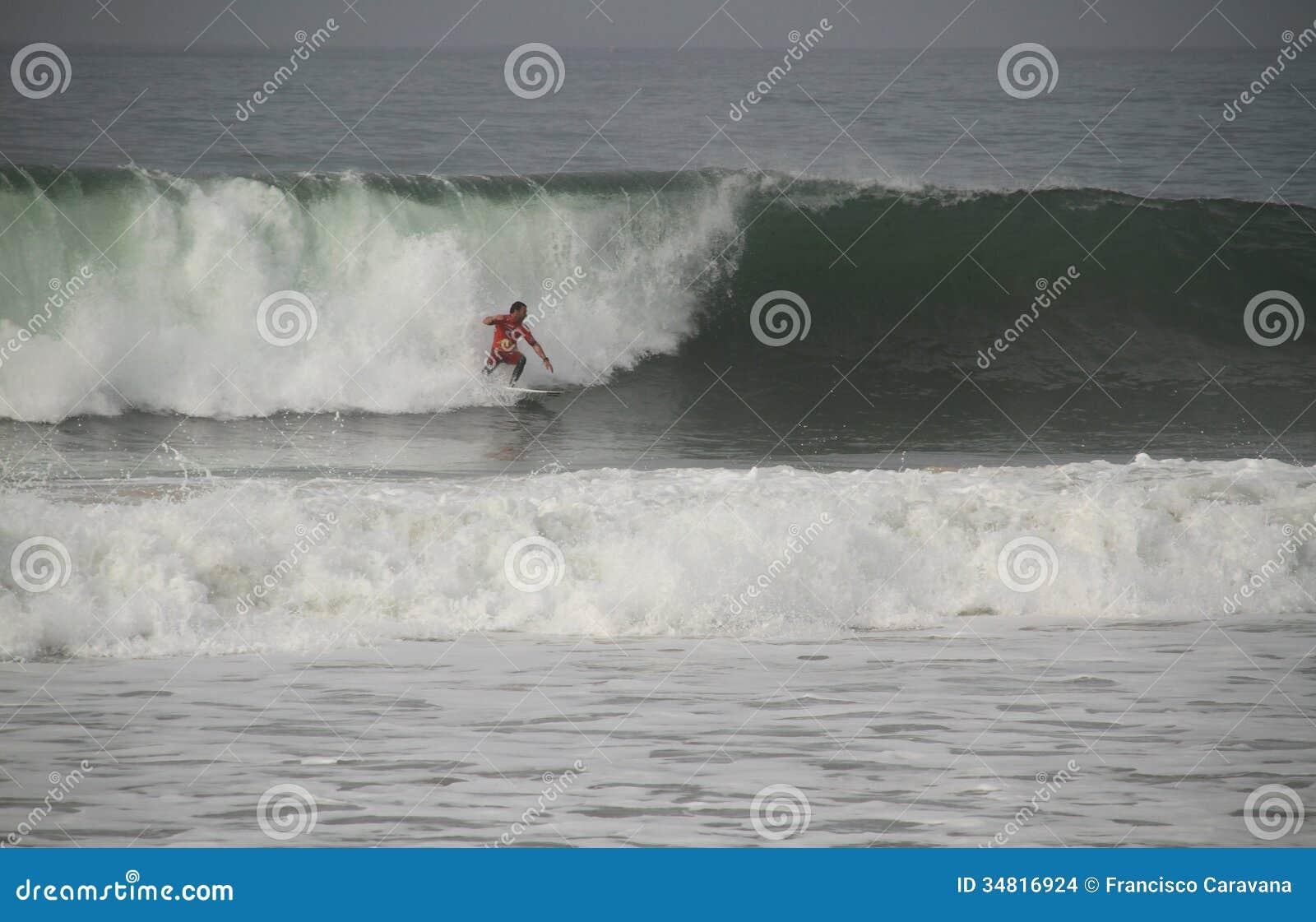 Joel Parkinson riding a wave