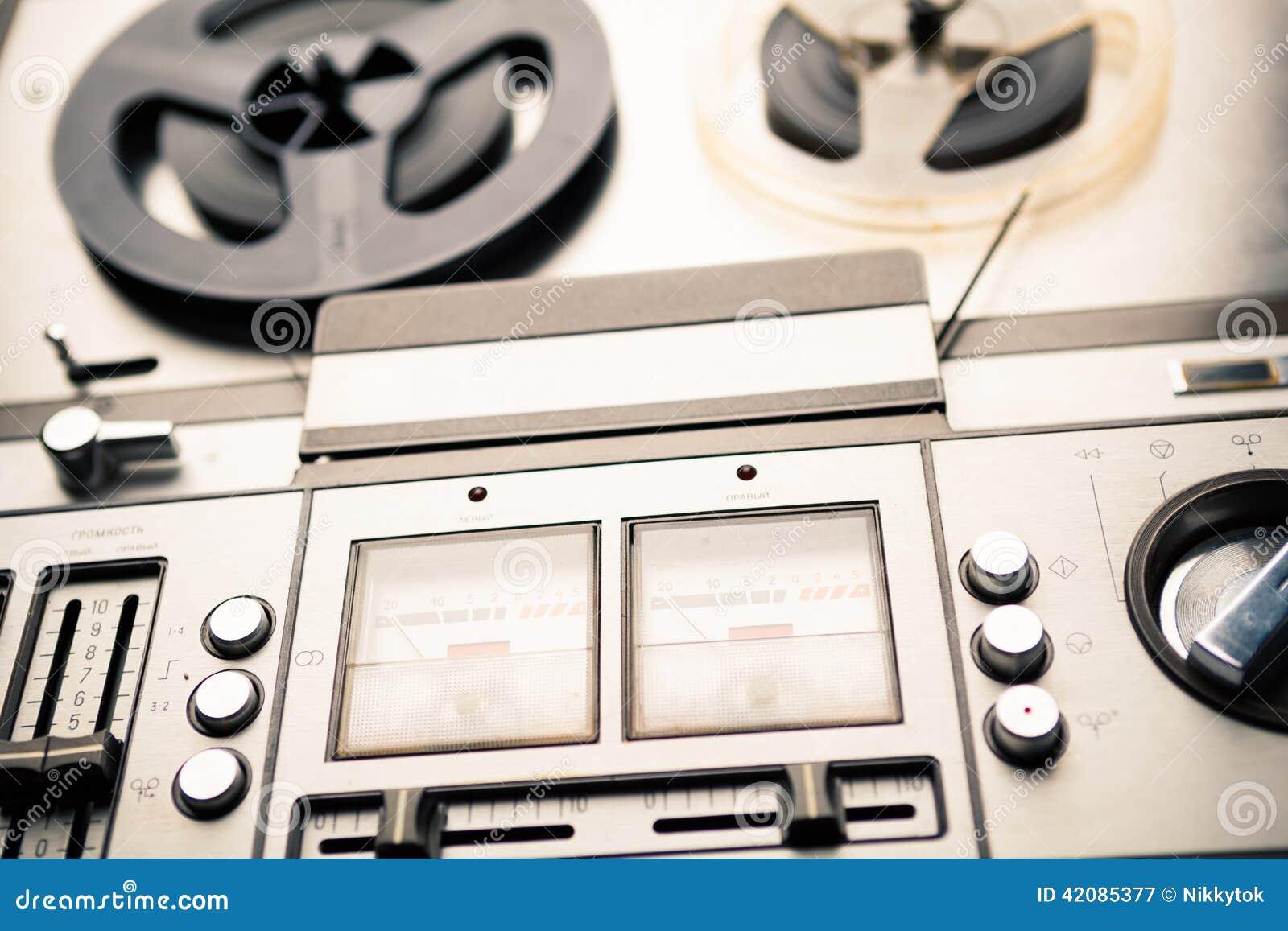 Jogador bobina a bobina e registrador do vintage