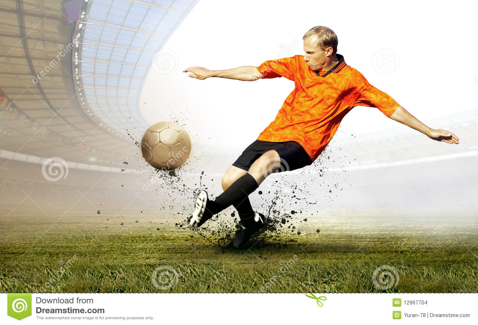 jogador de futebol imagens de stock   imagem 12967704