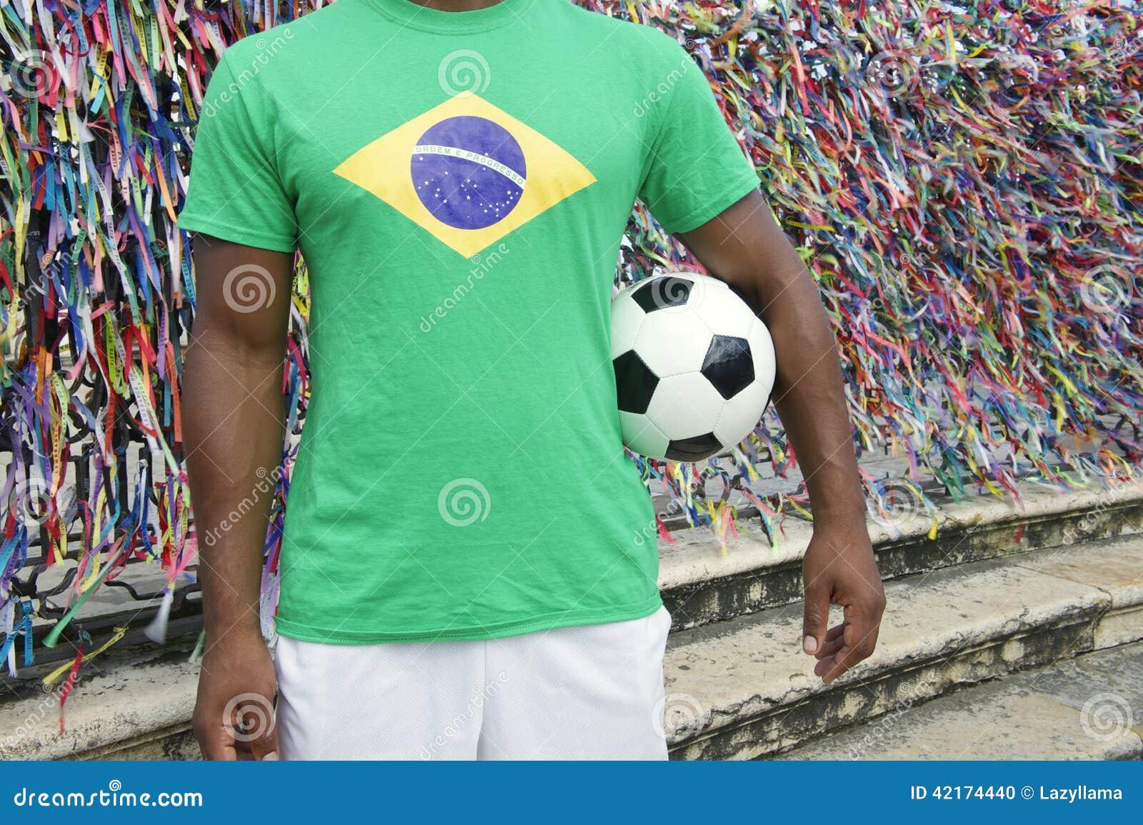 Jogador de futebol brasileiro Salvador Wish Ribbons do futebol