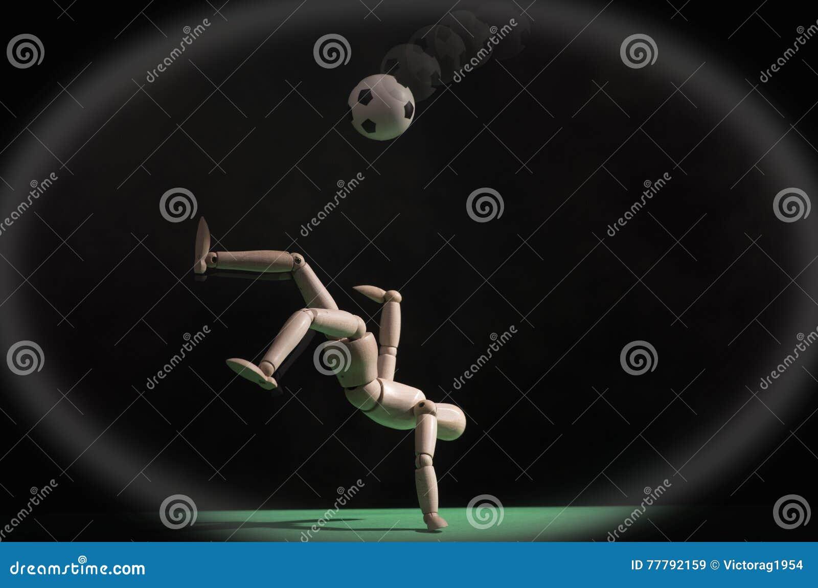 Jogador de futebol com esfera