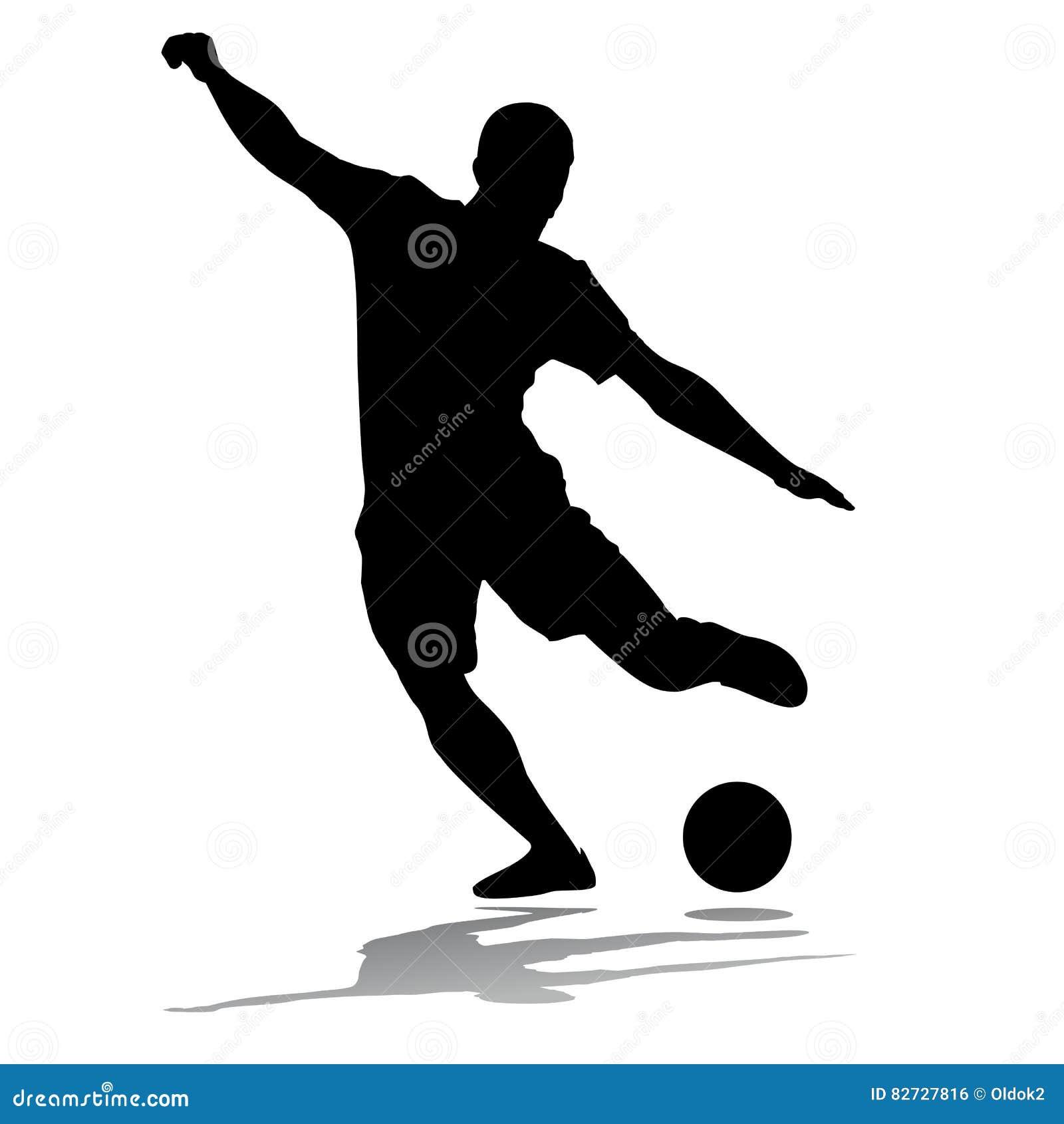 Jogador De Futebol Da Silhueta Ilustração do Vetor - Ilustração de ...