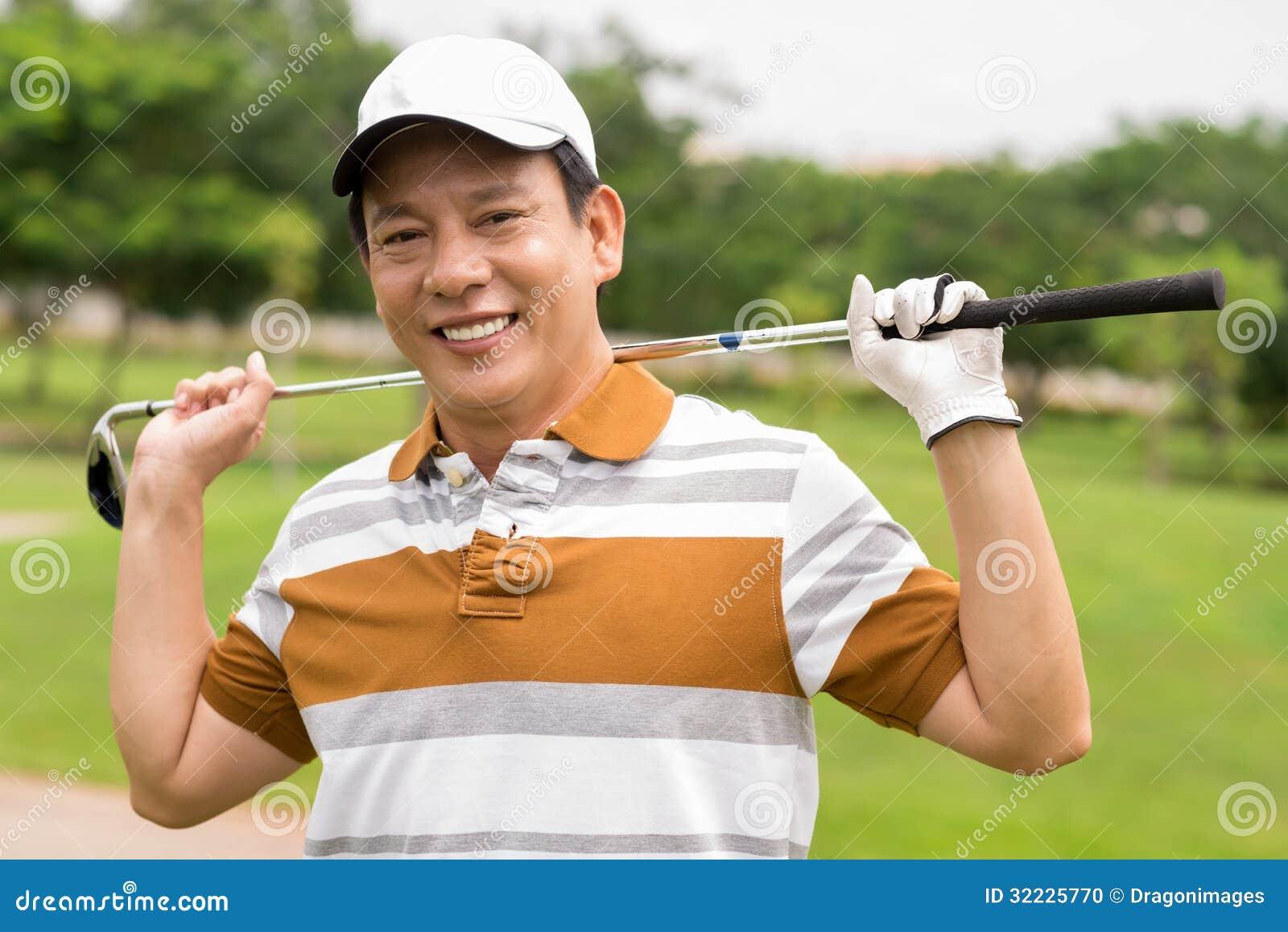 Download Jogador de golfe maduro foto de stock. Imagem de parque - 32225770