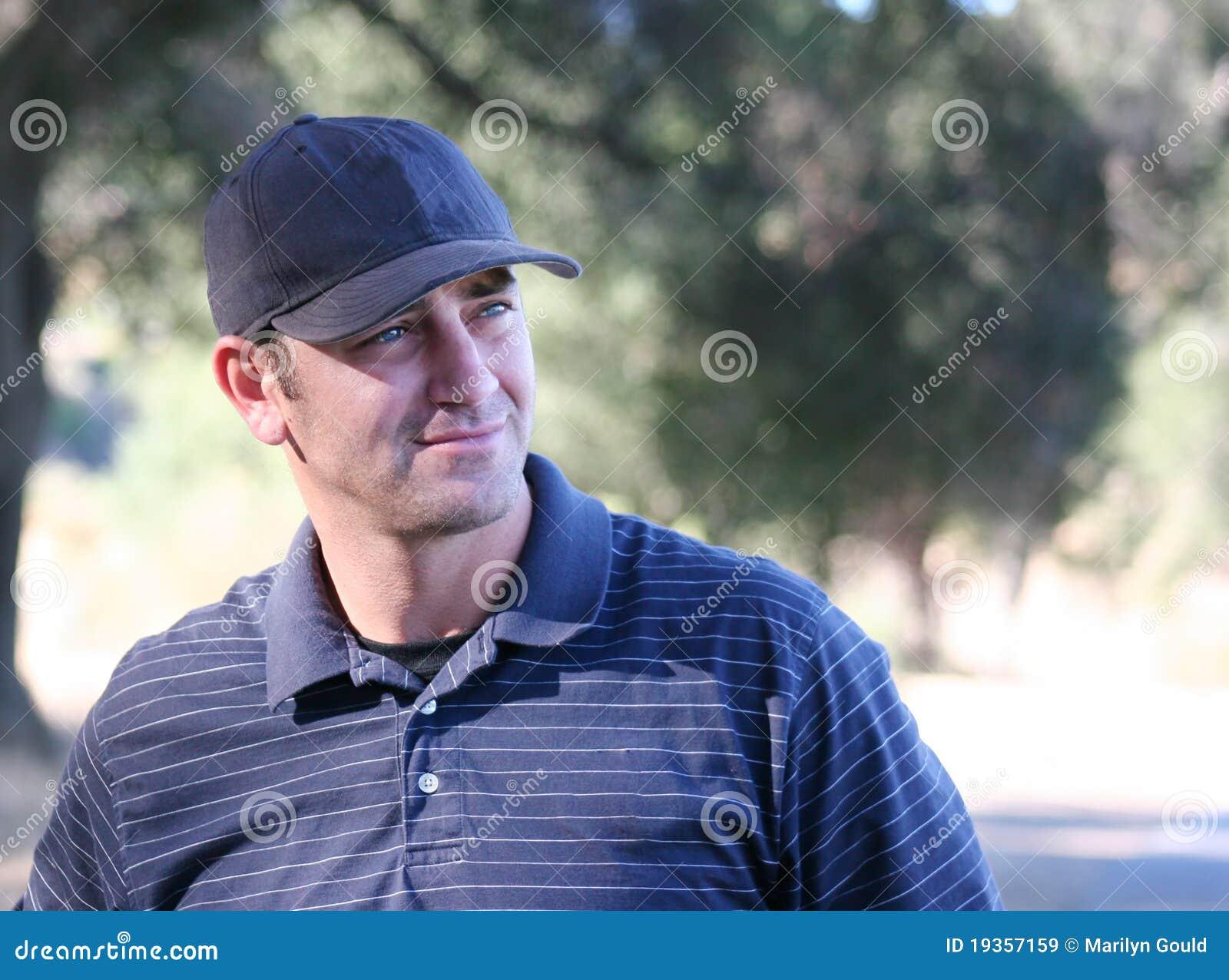 Jogador de golfe masculino