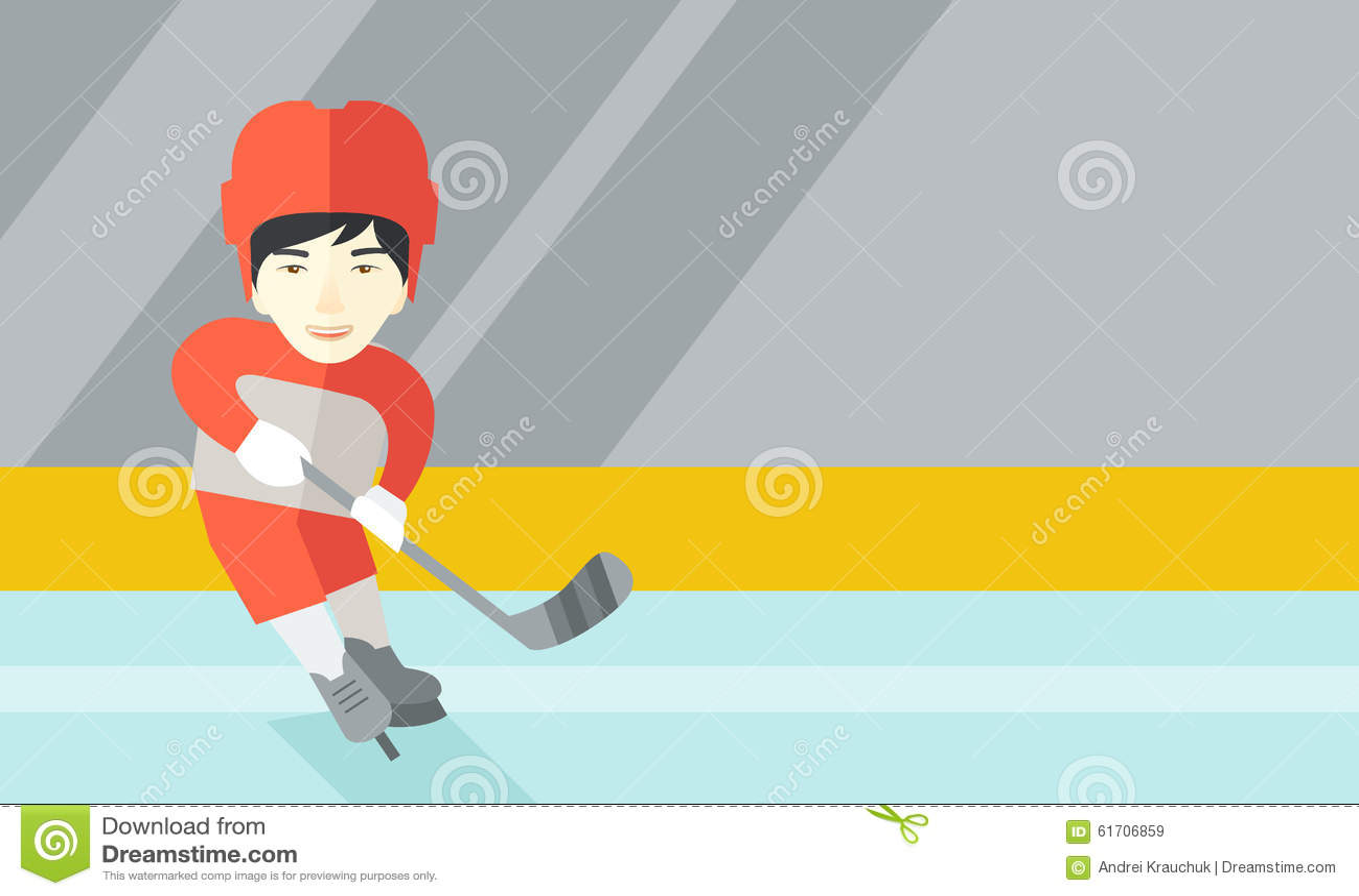 Jogador de hóquei na pista