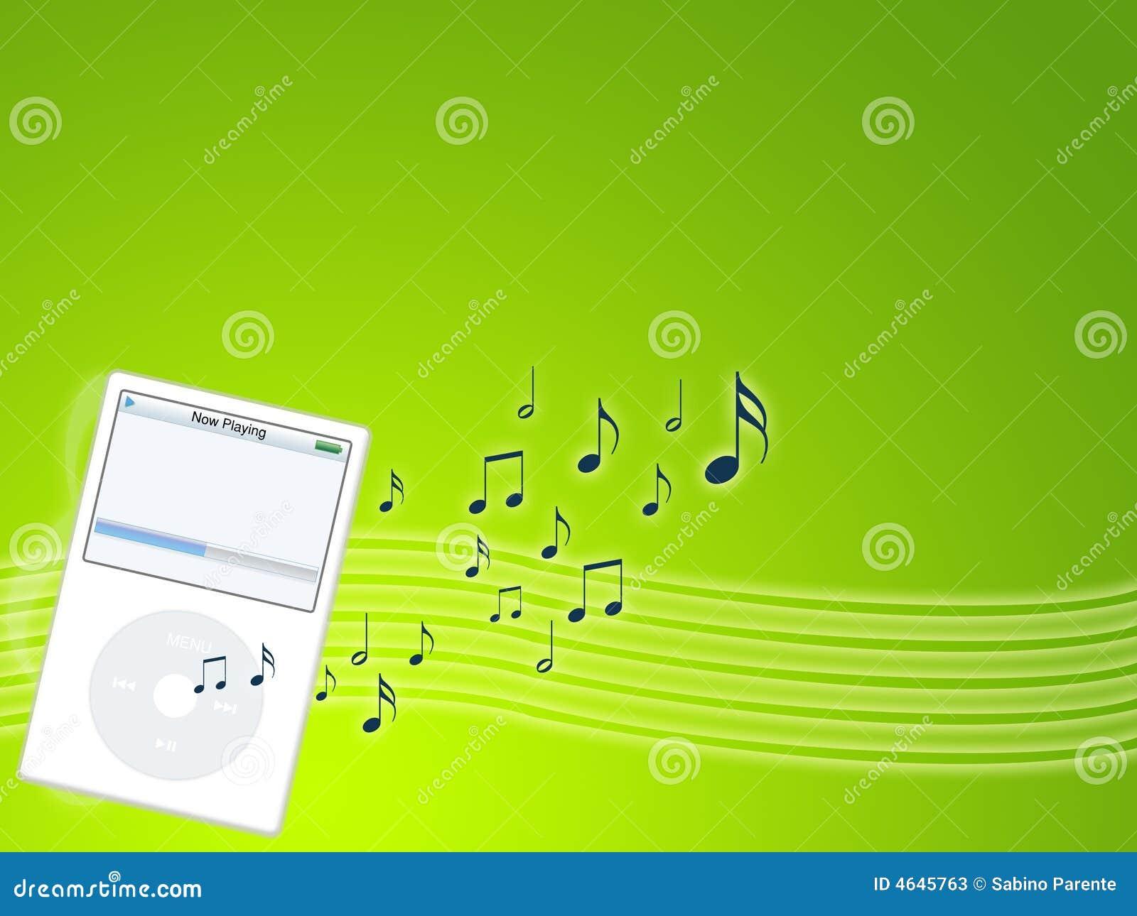 Jogador de mp3 da música