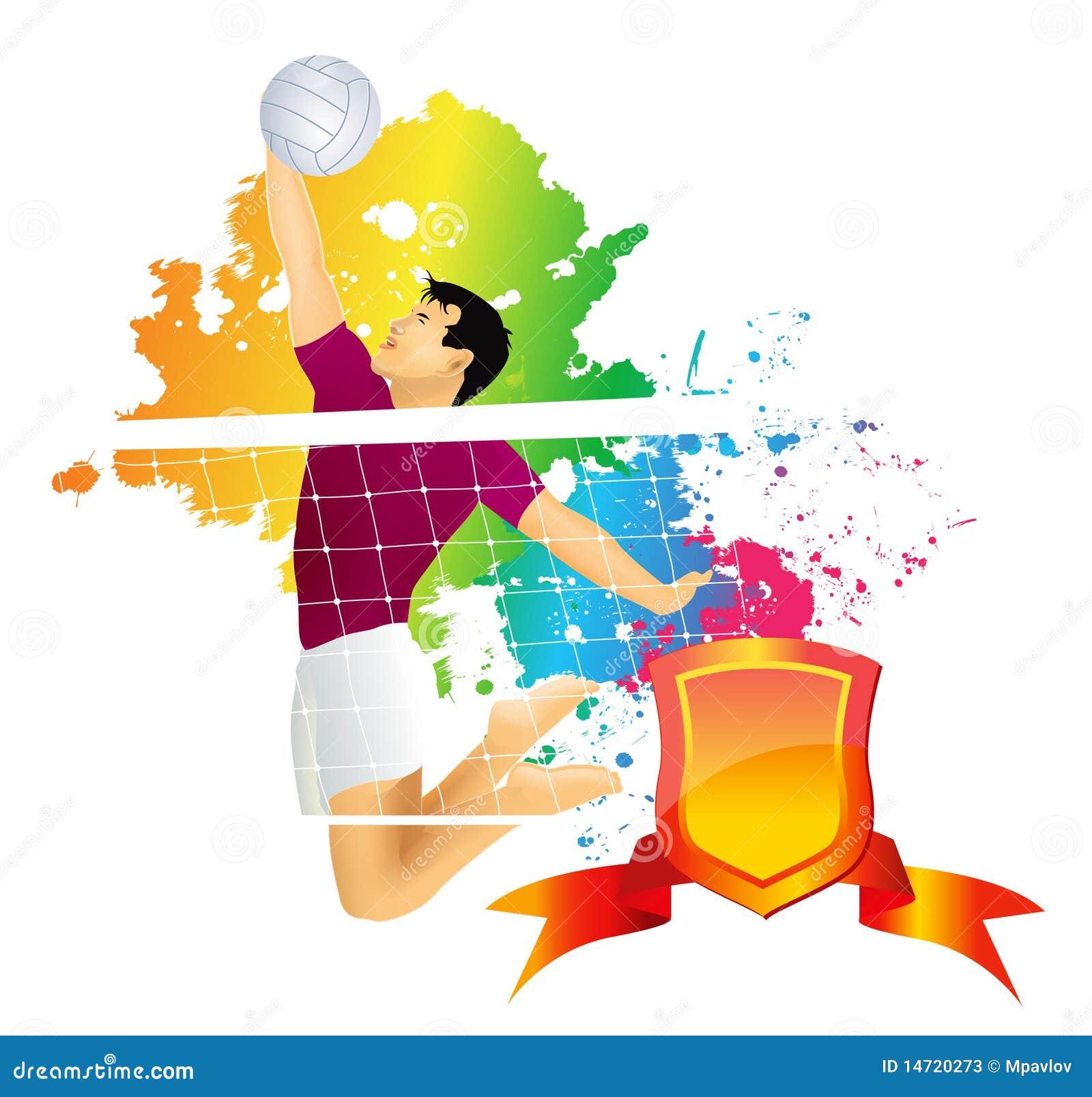jogador de voleibol fotos de stock   imagem 14720273