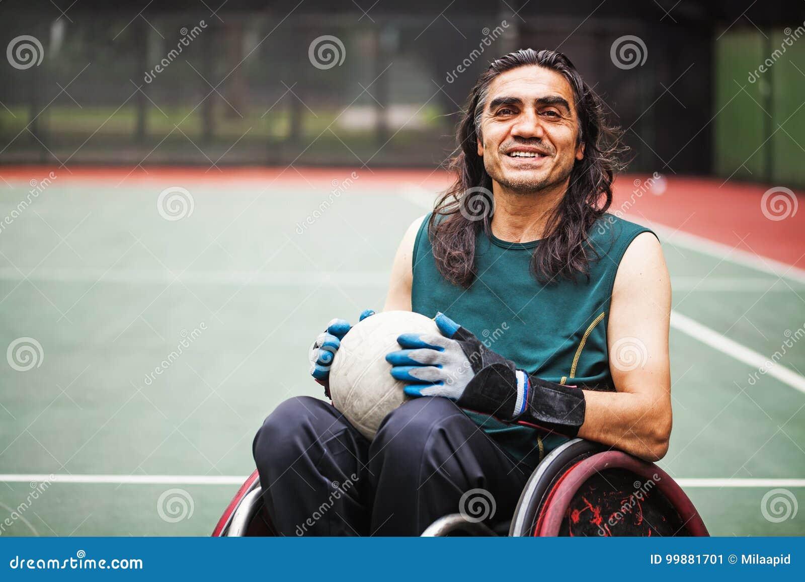 Jogador deficiente do rugby