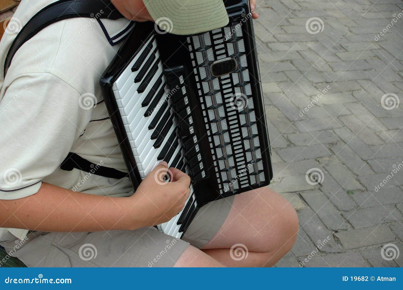 Jogador do acordeão