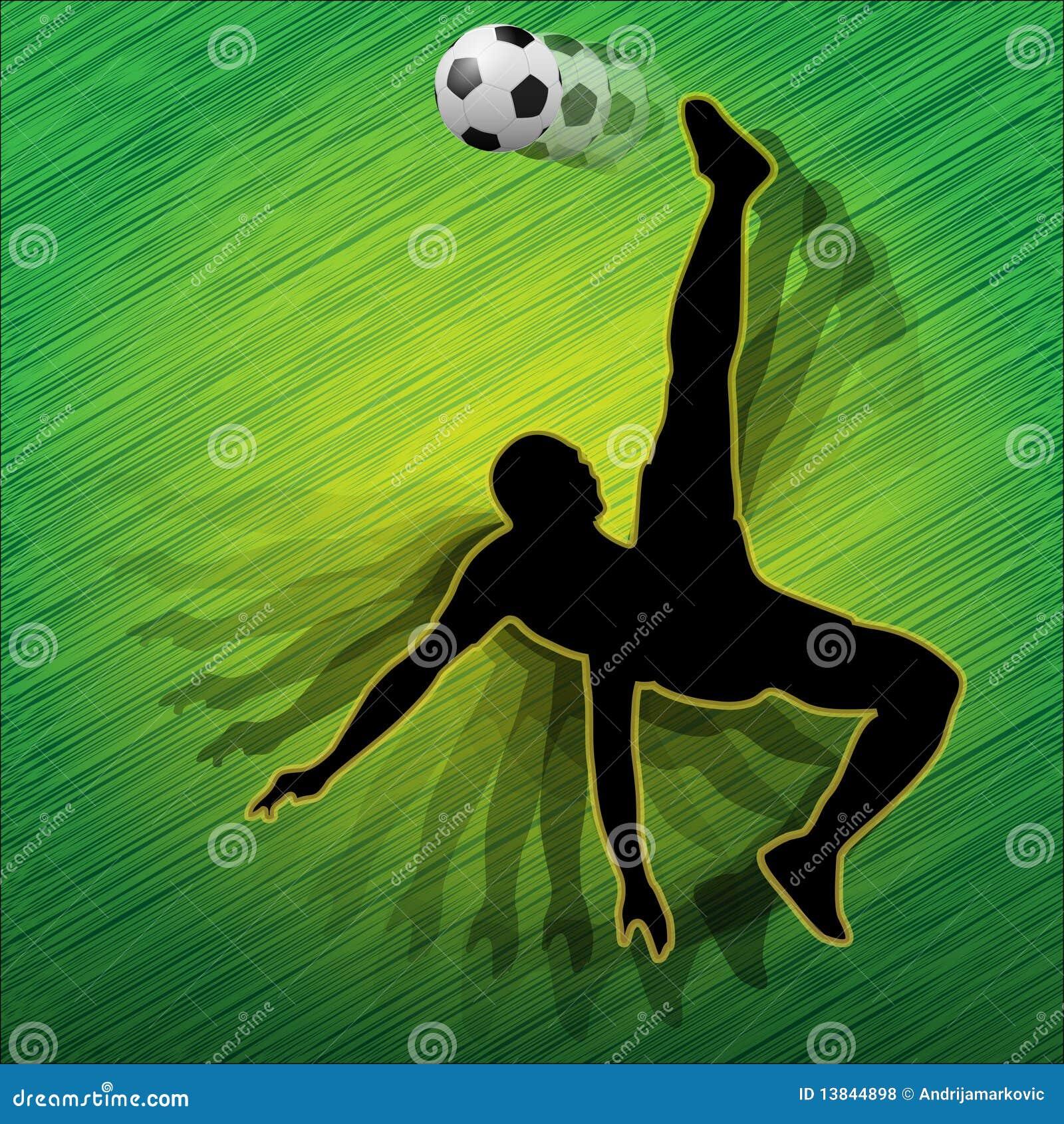 jogador do jogador futebol do futebol ilustra o do vetor