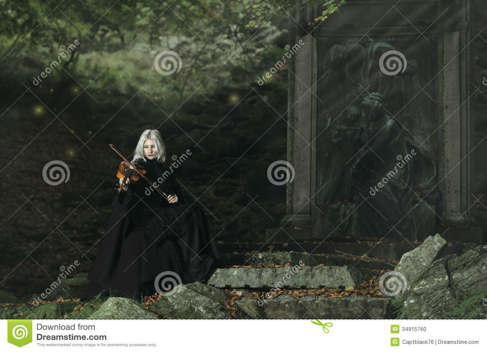 Jogador escuro do violino