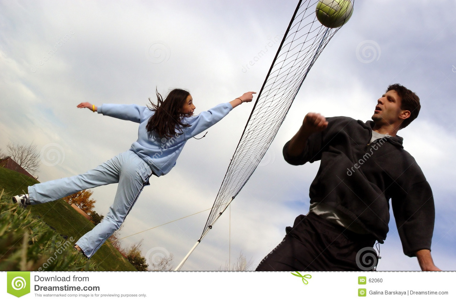 Jogadores de voleibol dos pares