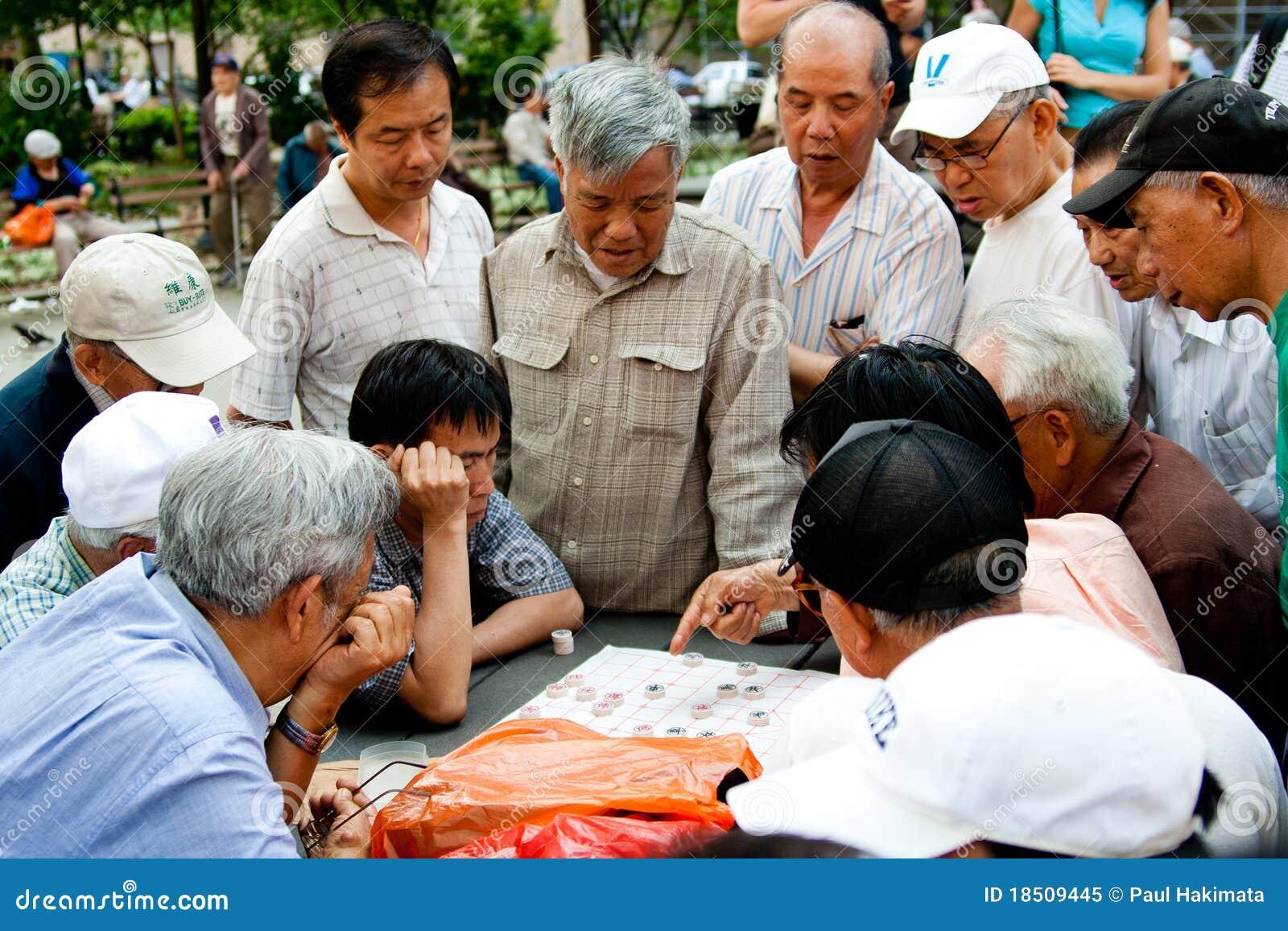 Jogadores de xadrez chineses de Xiangqi