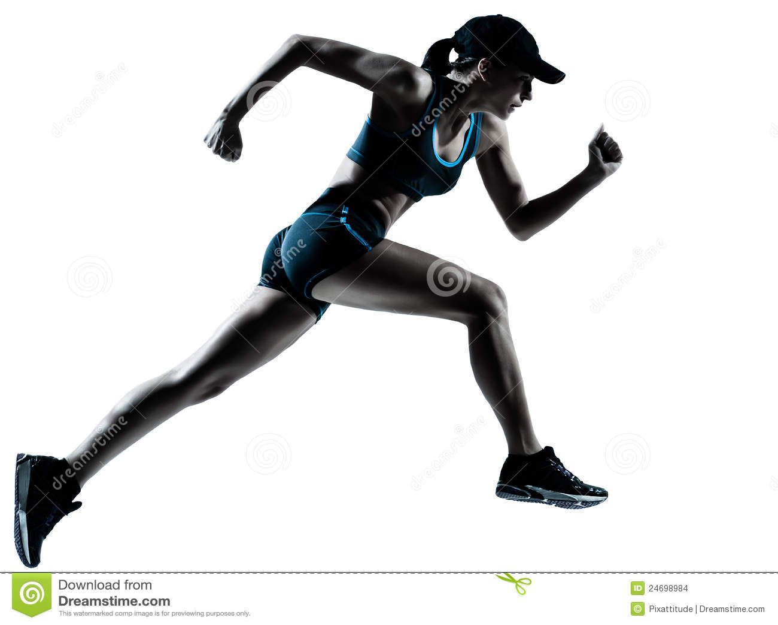 Jogger τρέχοντας γυναίκα δρομέων